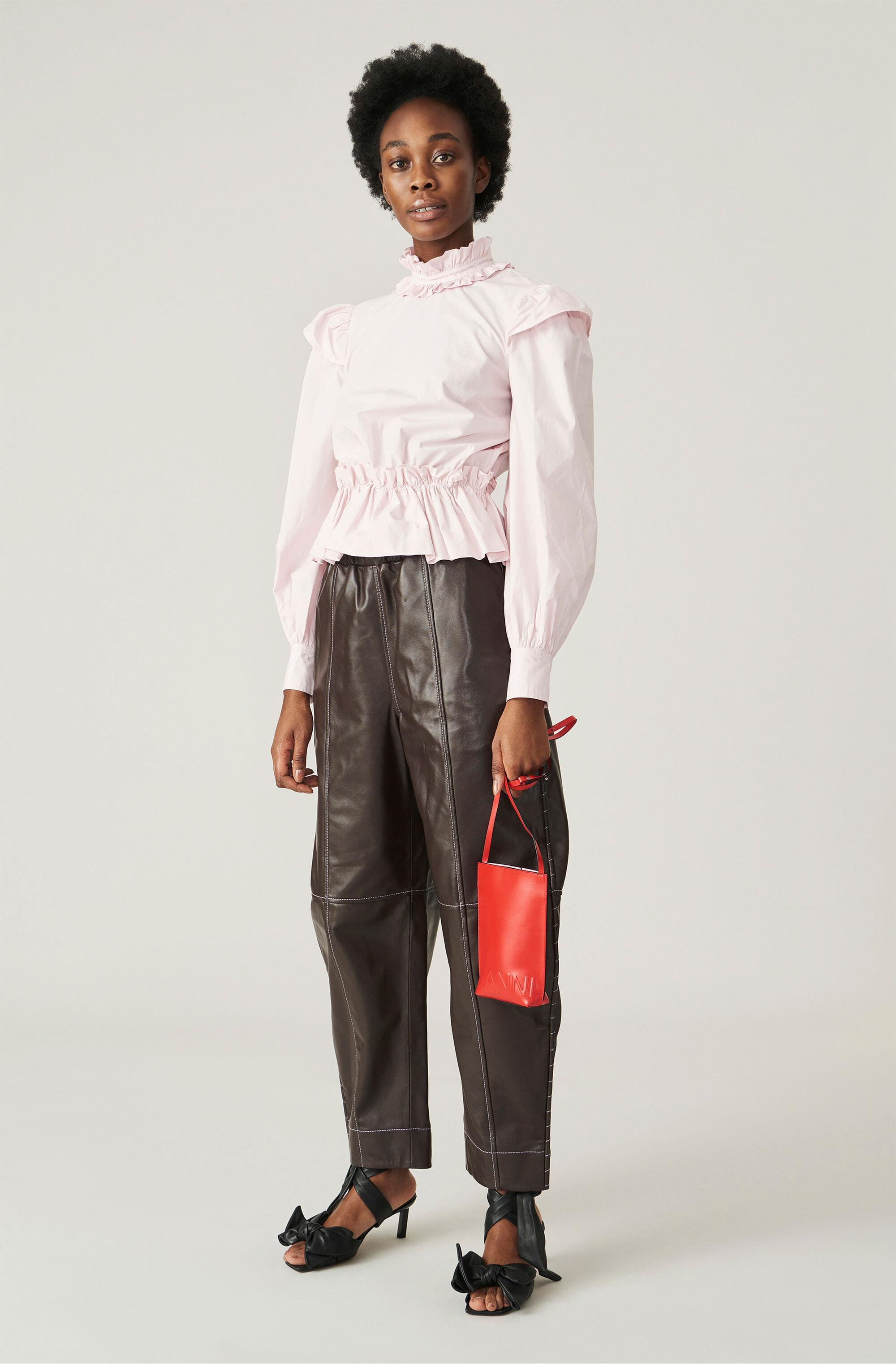 Leather Curve Trousers