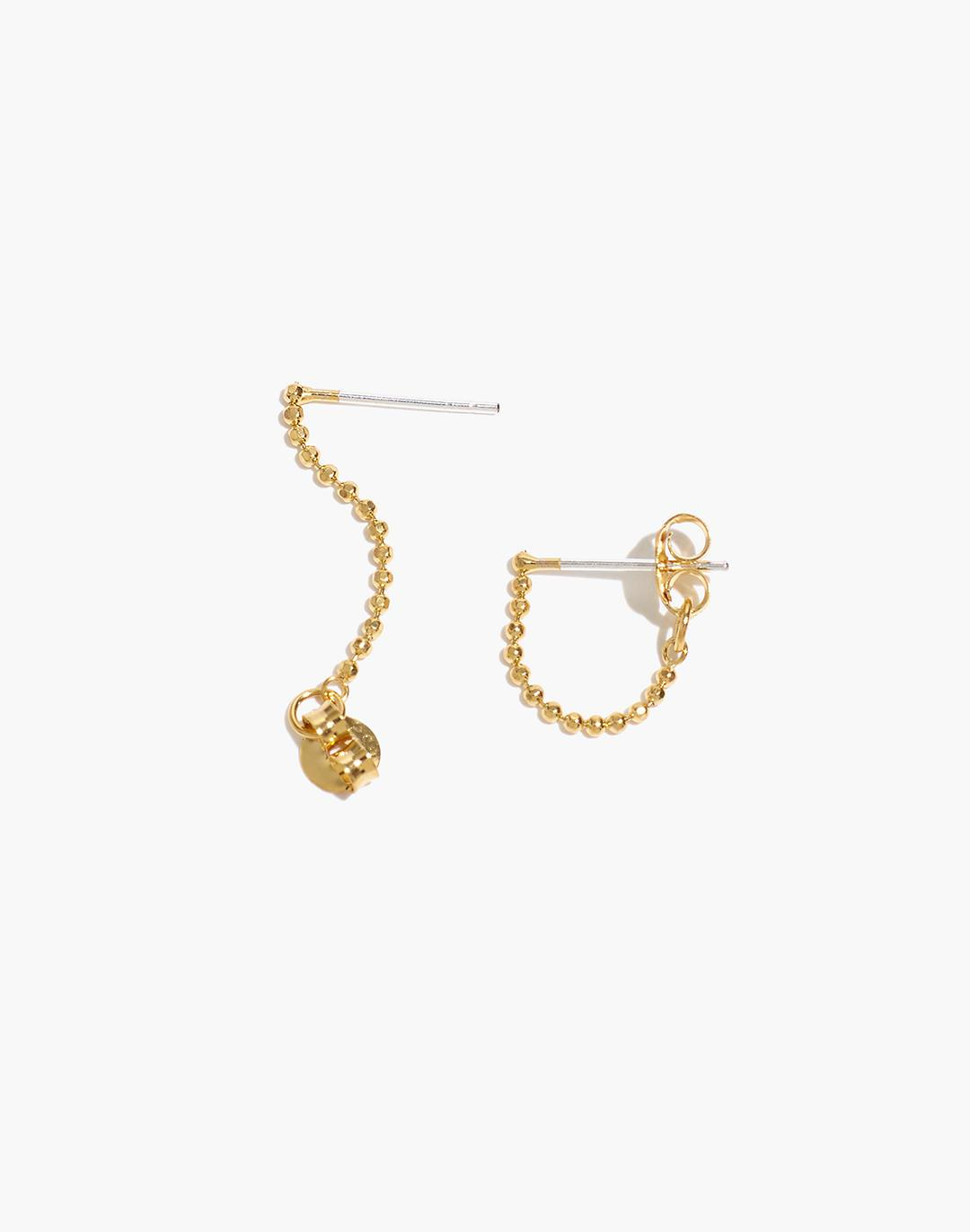 Delicate Collection Demi-Fine Ball Chain Hoop Earrings