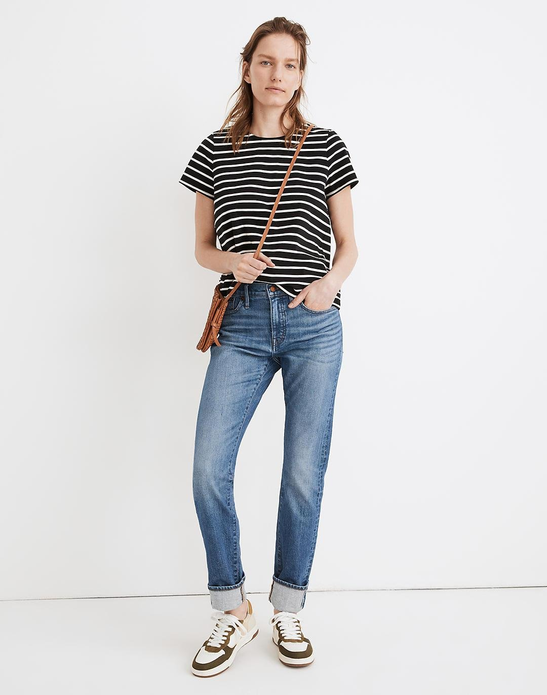 Tomboy Straight Jeans in Galewood Wash: Selvedge Edition
