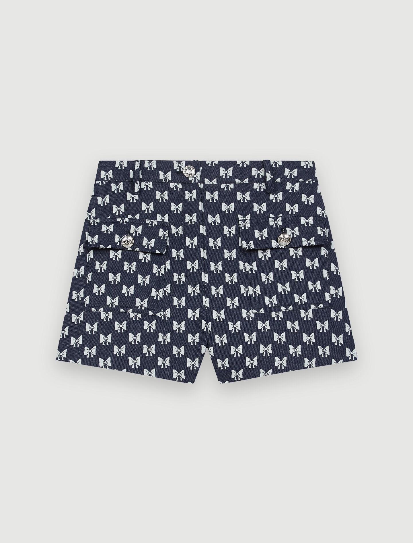 JACQUARD SHORTS WITH BOW PATTERN 4