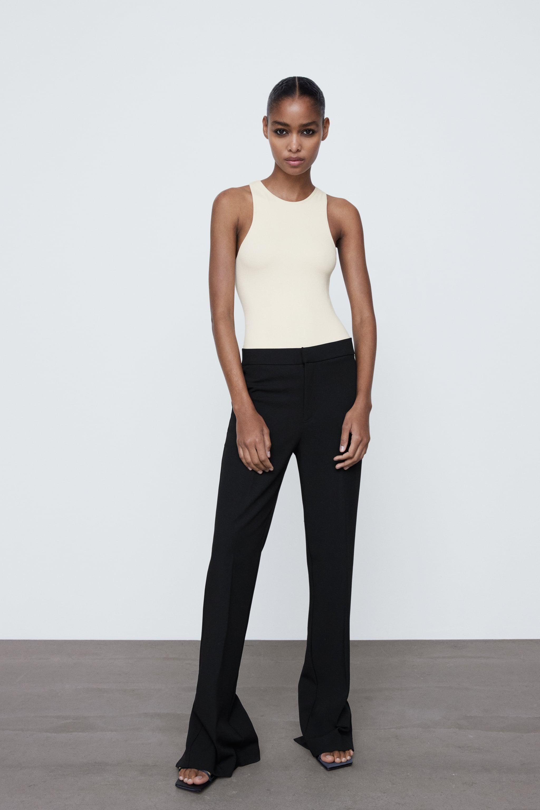 PANTS WITH VENTED HEM