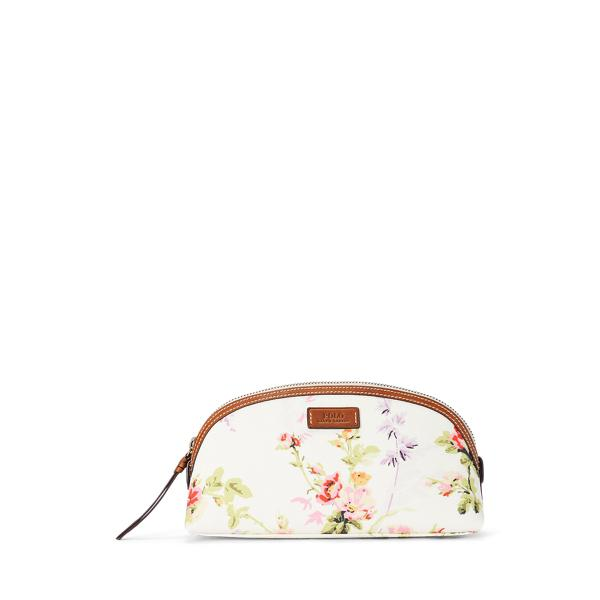 Canvas Floral Cosmetic Case