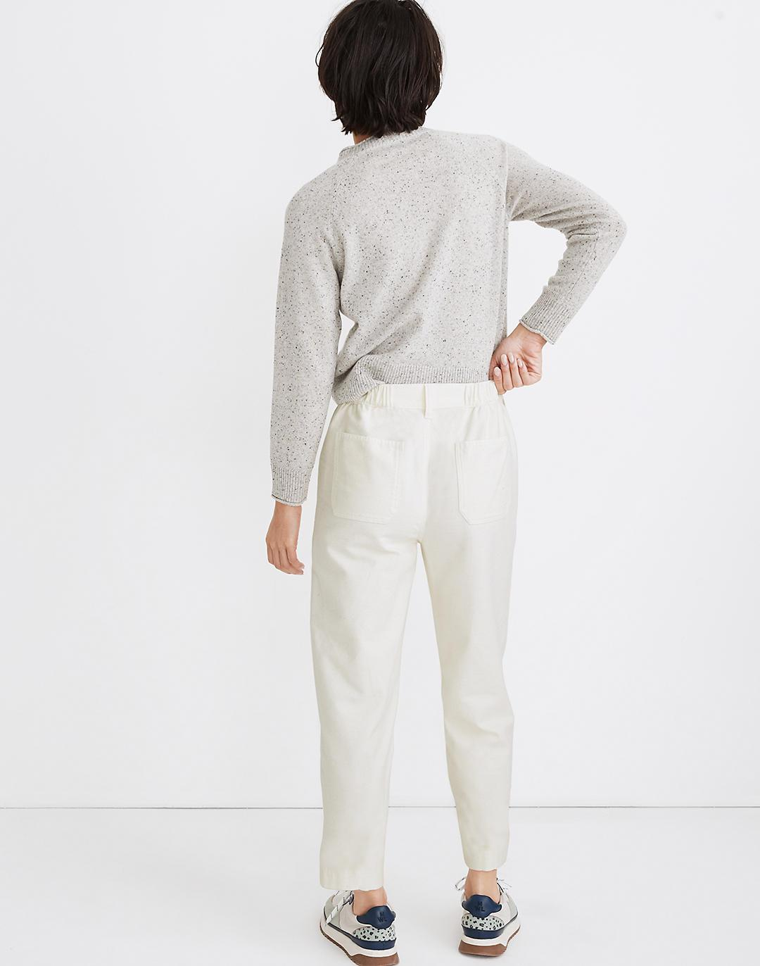 Moleskin High-Rise Seamed Tapered Pants 2