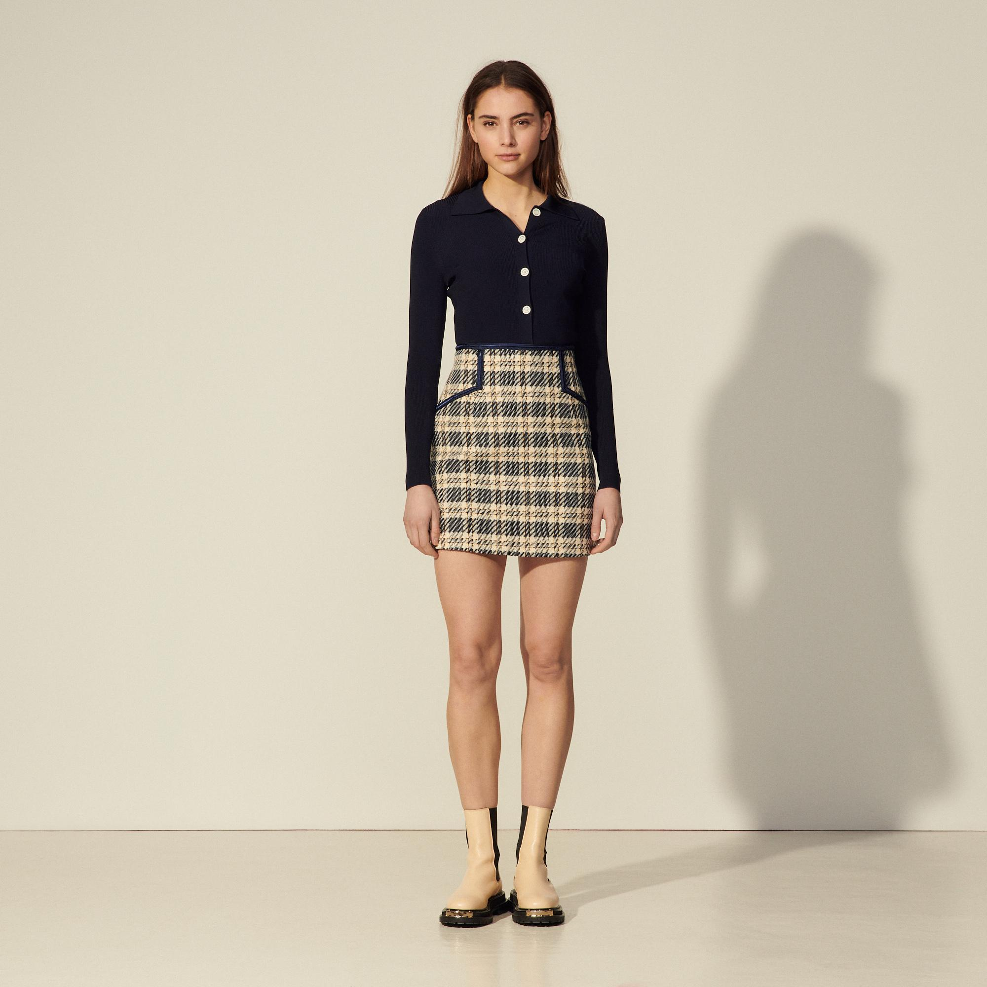 Checked tweed skirt 3