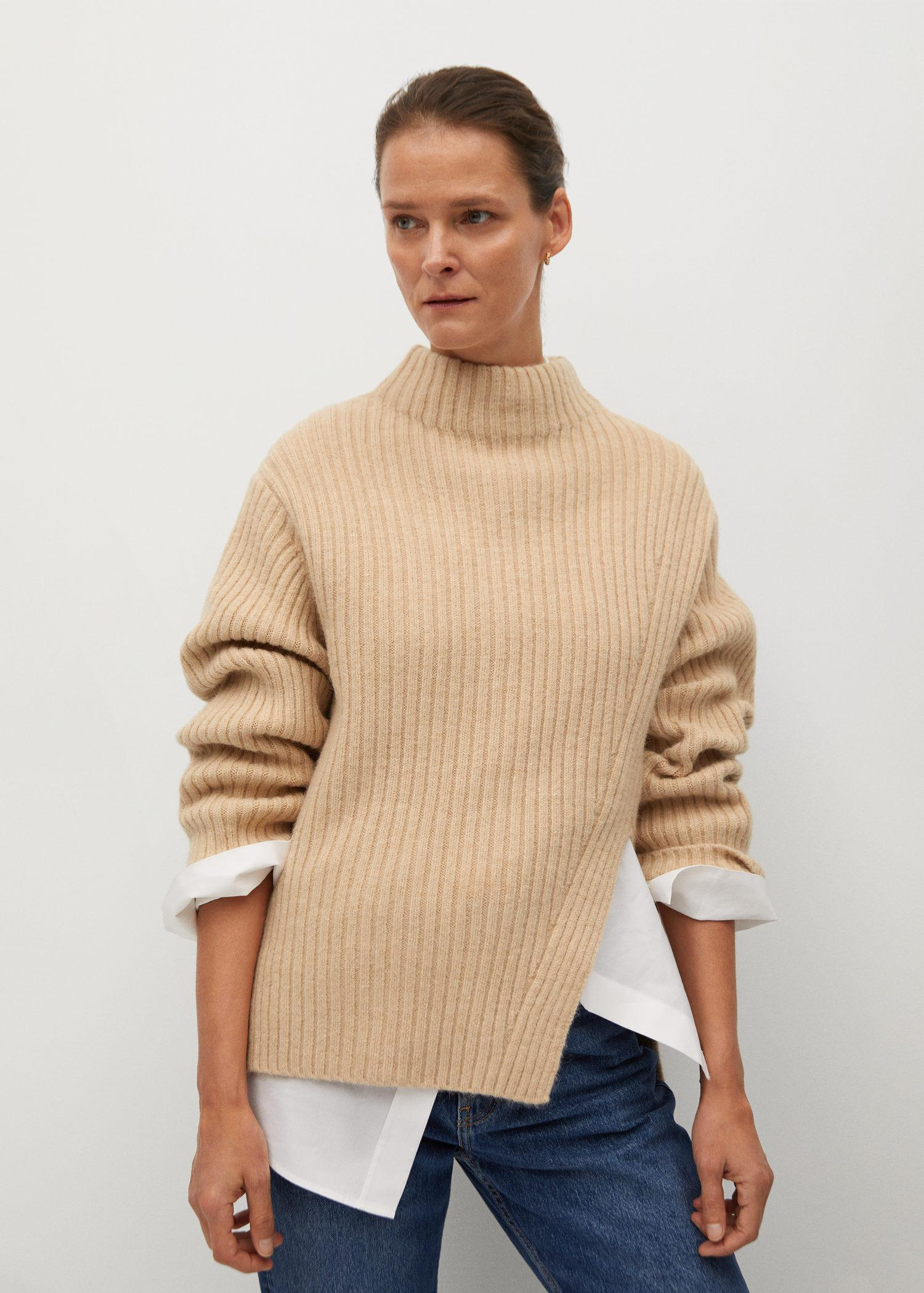 Cut-out knitted sweater