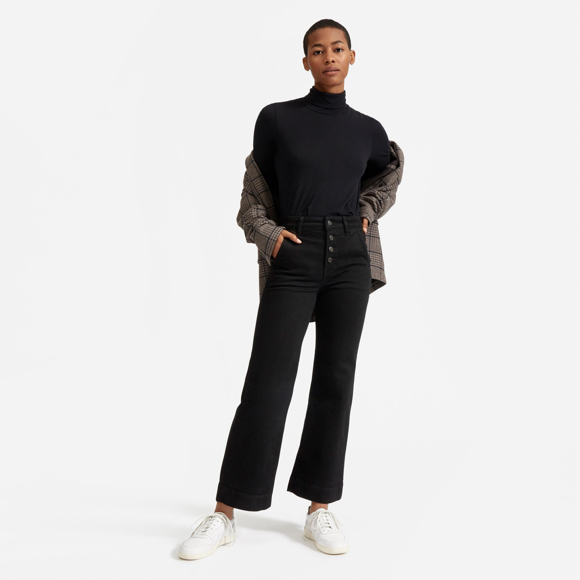 The Button-Fly Wide-Leg Jean