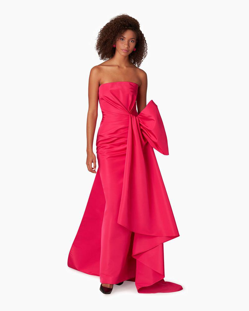 Strapless Gown With Side Drape