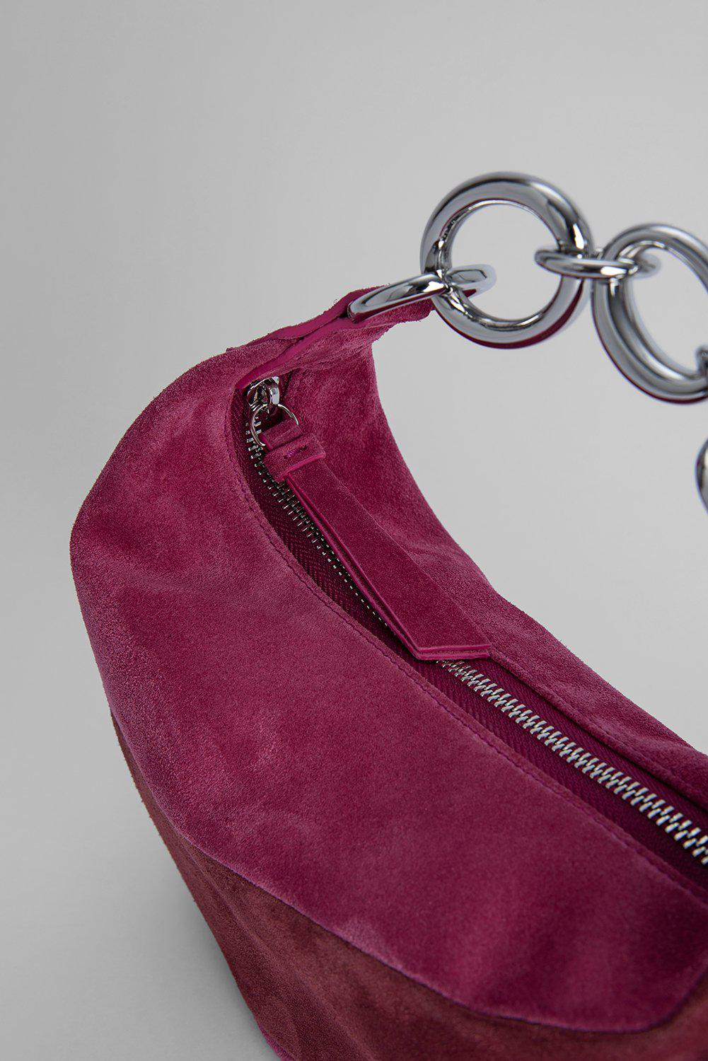 Bougie Fuchsia and Dark Brown Suede Leather 2