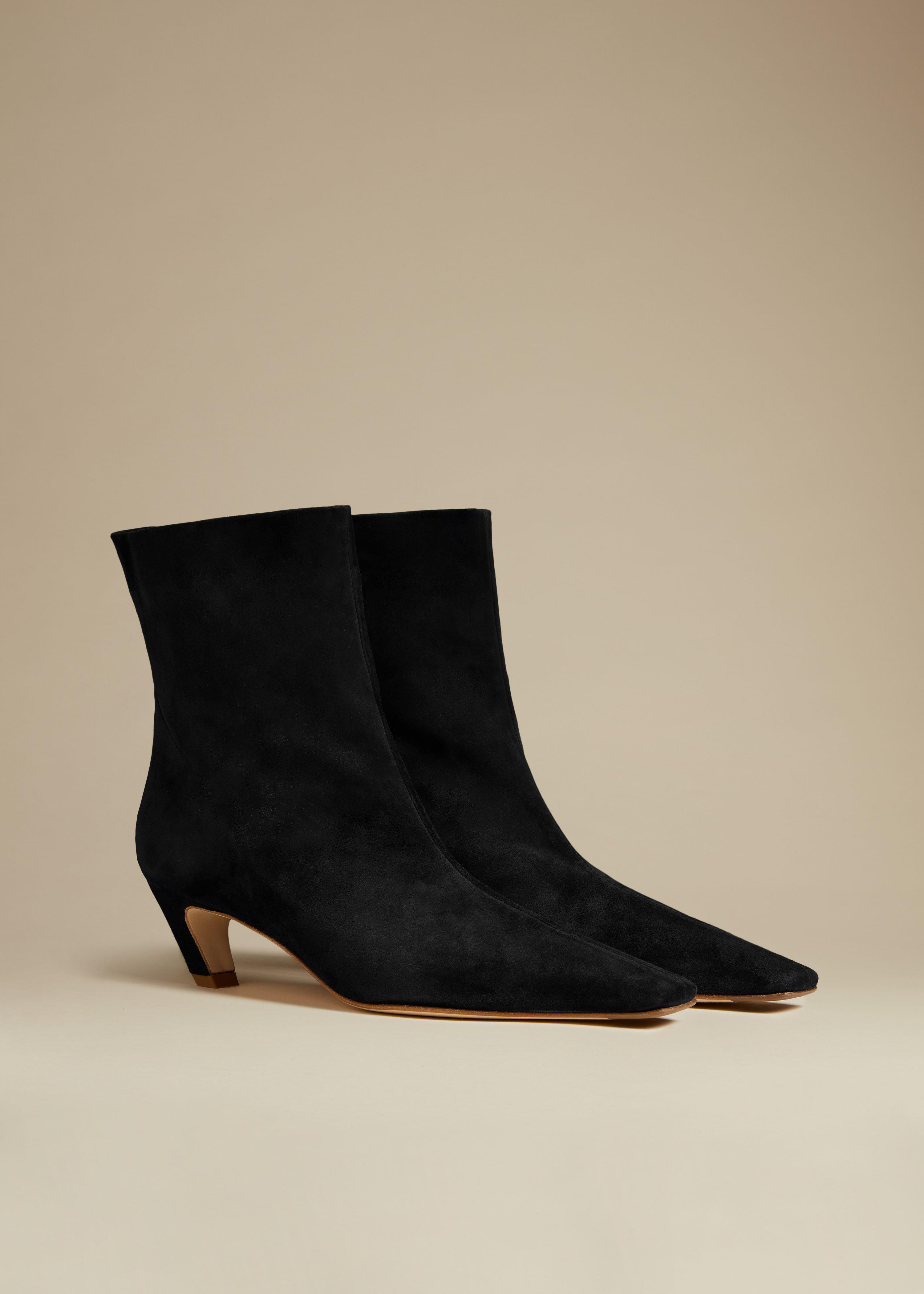 The Arizona Boot in Black Suede 1