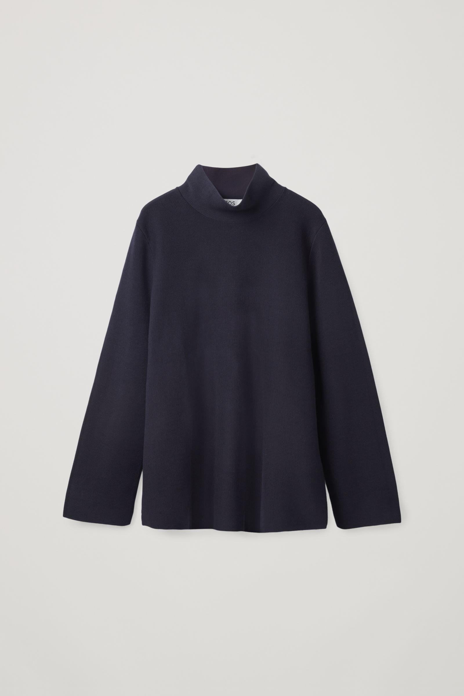 A-LINE ROLL NECK TOP