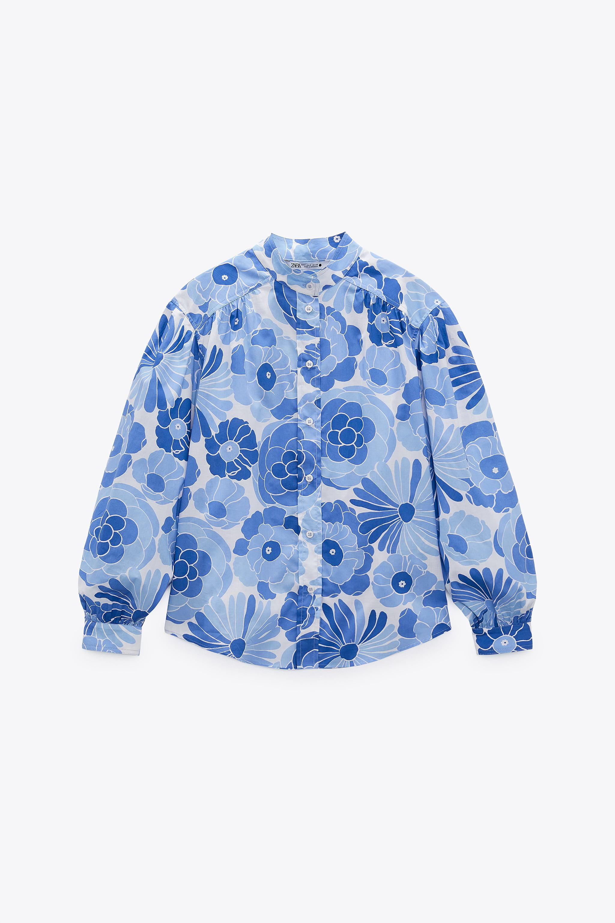 PRINTED BLOUSE WITH TOILETRY BAG