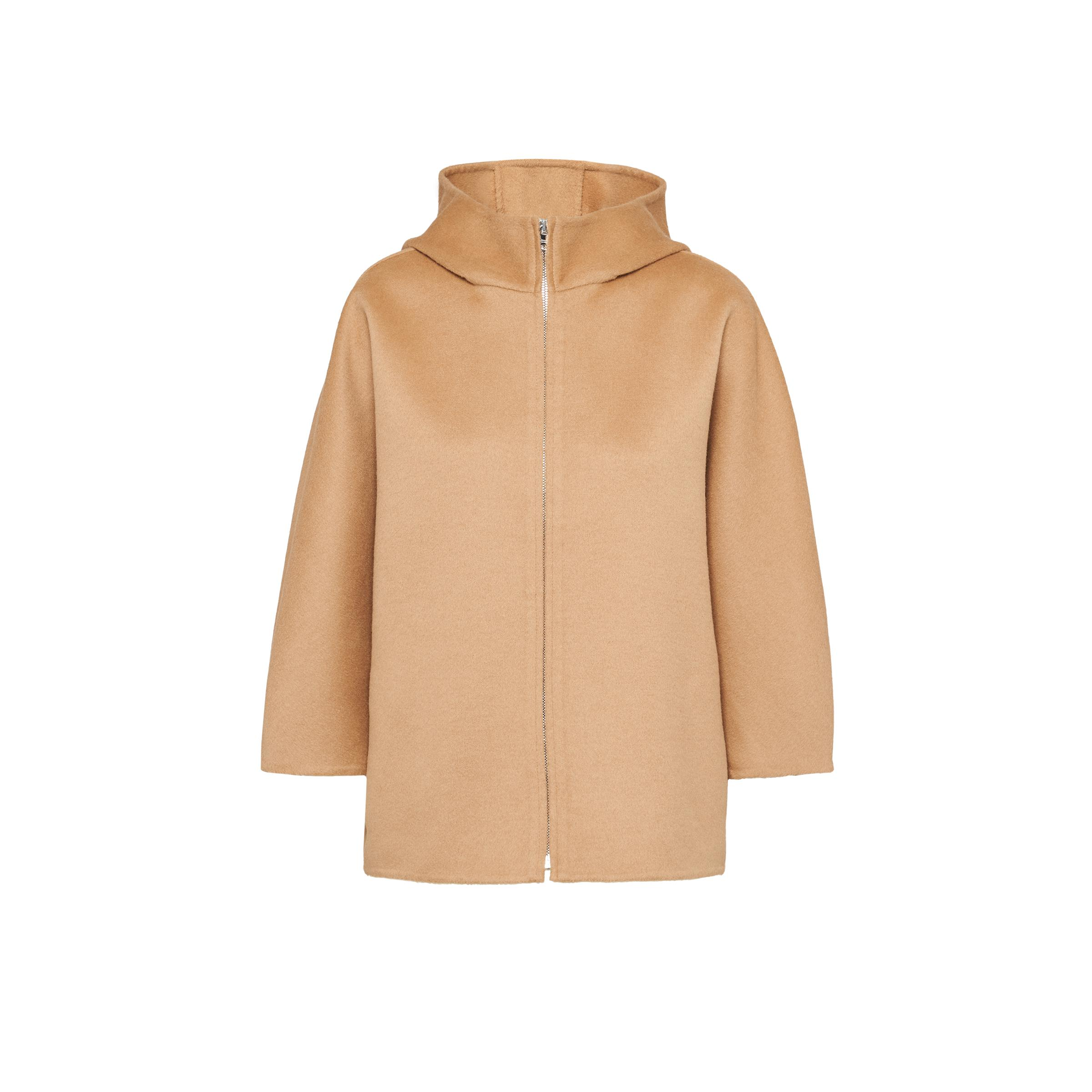 Wool And Cashmere Jacket Women Camel Brown