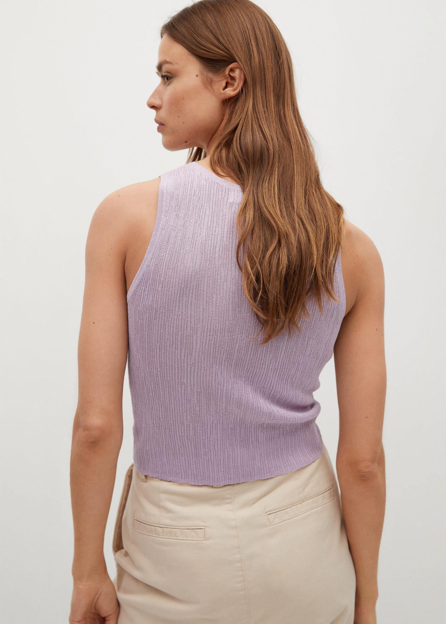 Embossed knit top 2