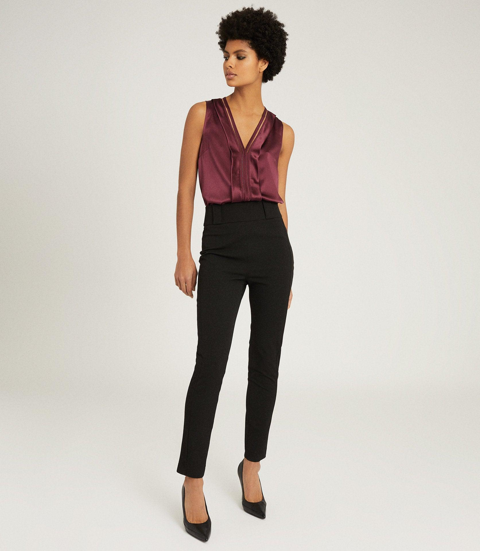 MILLIE - SEAM DETAIL TAILORED TROUSERS