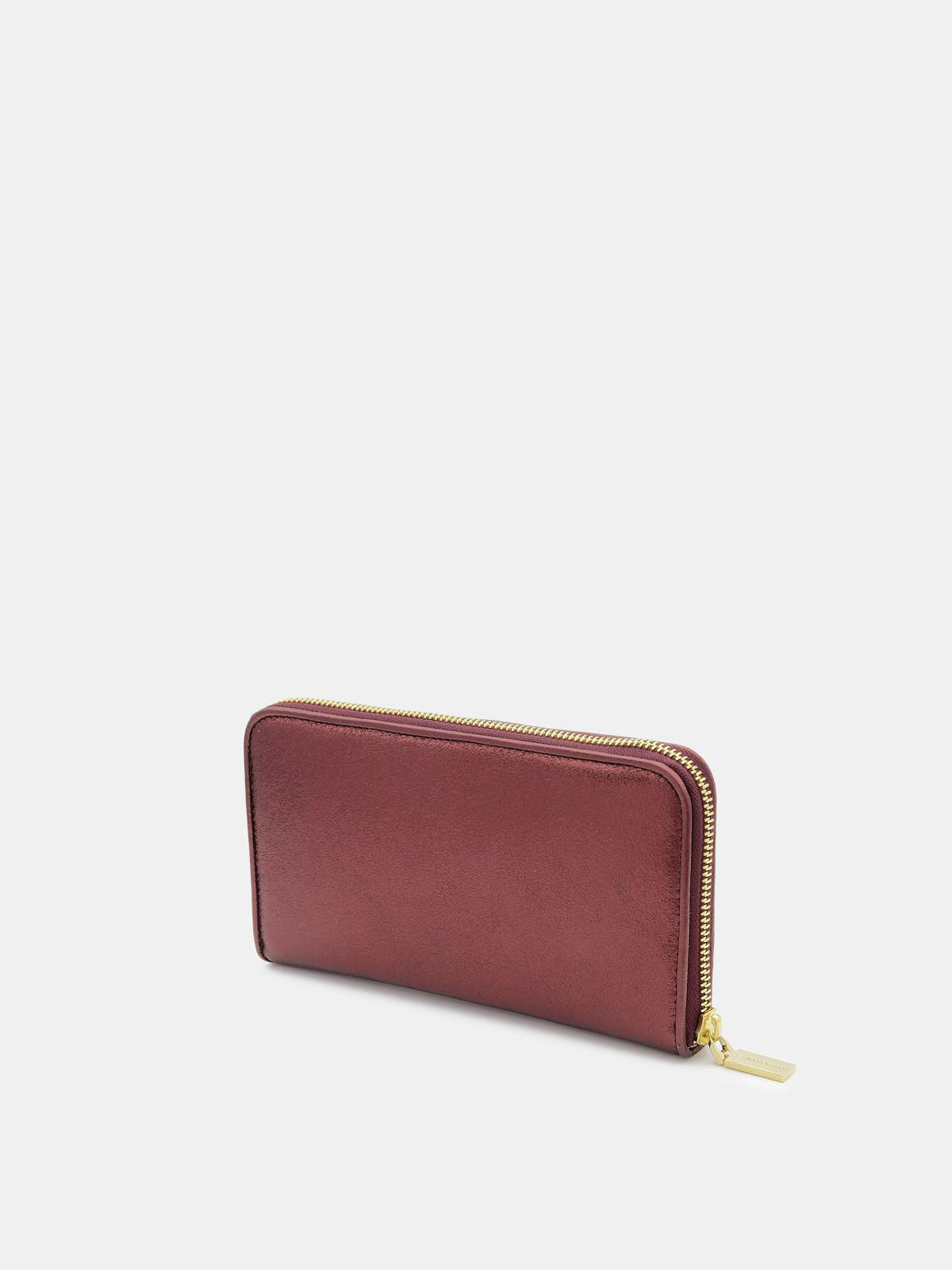 Large burgundy Star Wallet in laminated leather 2
