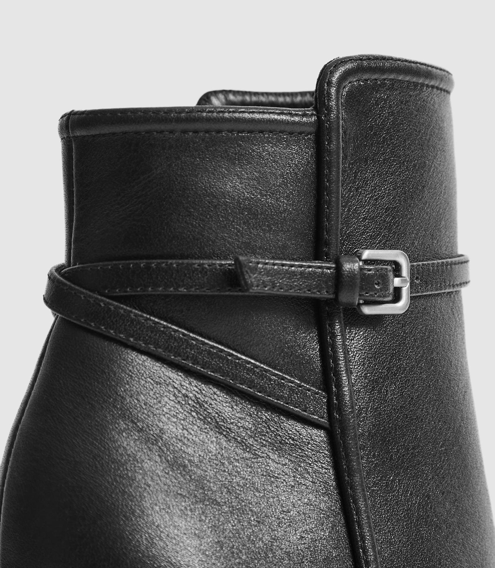ADA ANKLE - LEATHER POINT-TOE ANKLE BOOTS 4