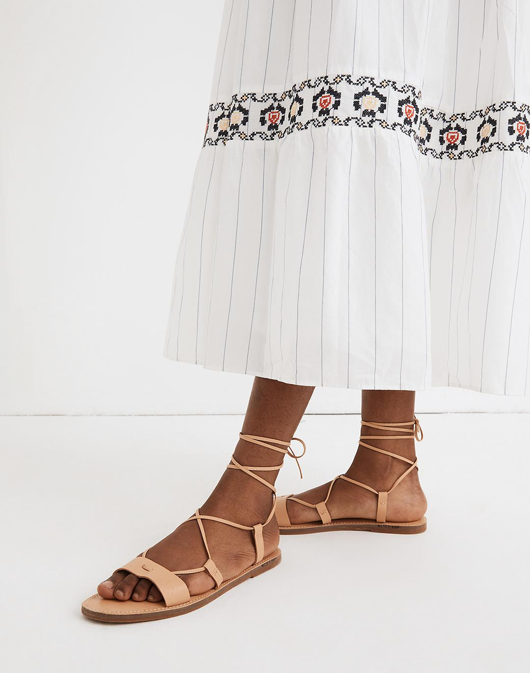 The Boardwalk Lace-Up Sandal in Leather 3
