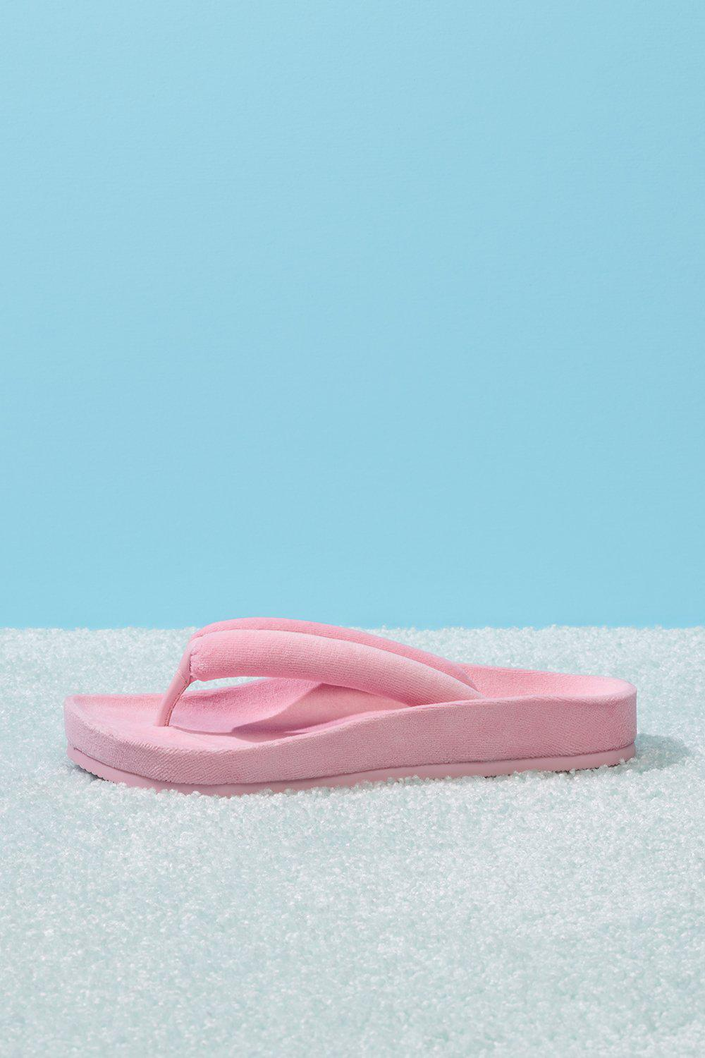 Puffer Padded Flip Flop - Baby Pink