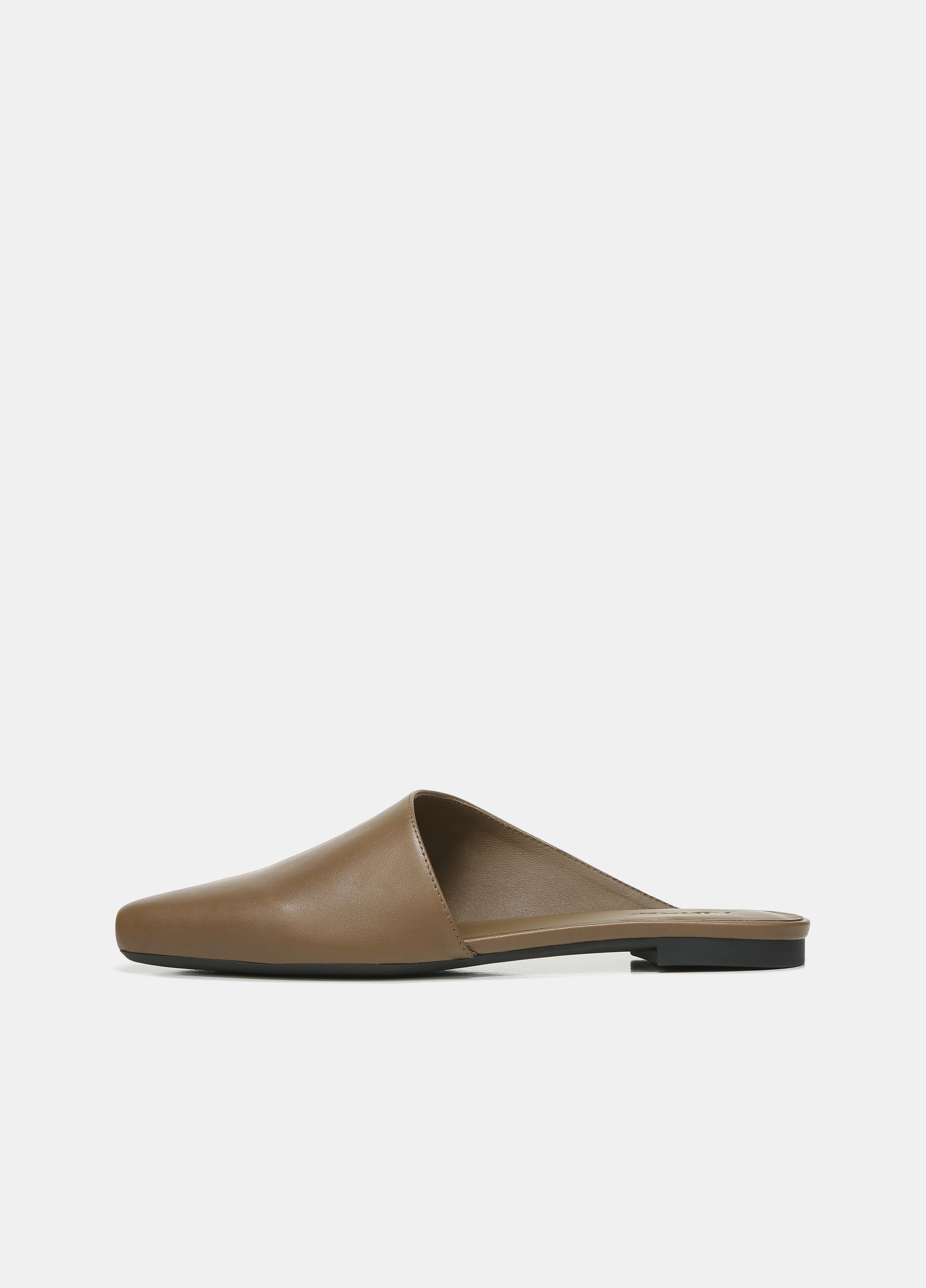 Leather Gena Assymetrical Mule