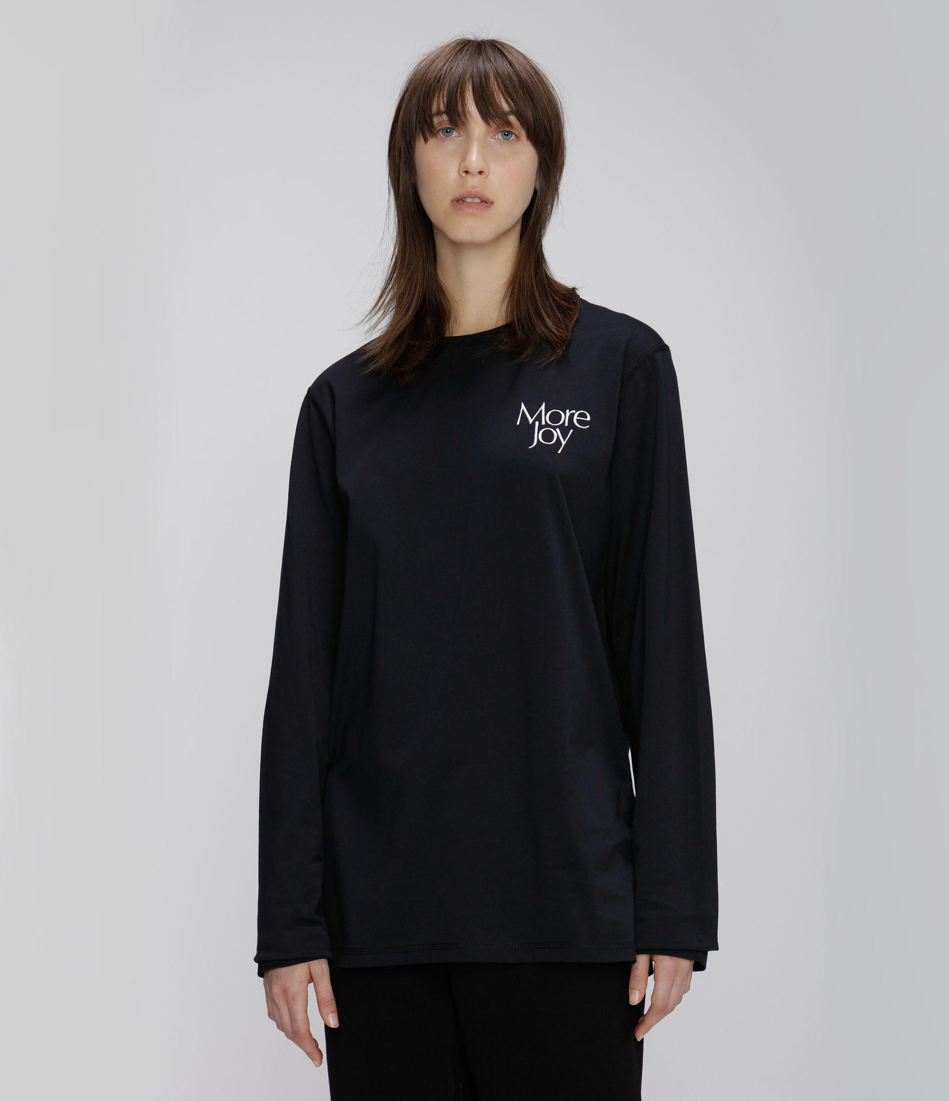 More Joy embroidered long sleeve t-shirt
