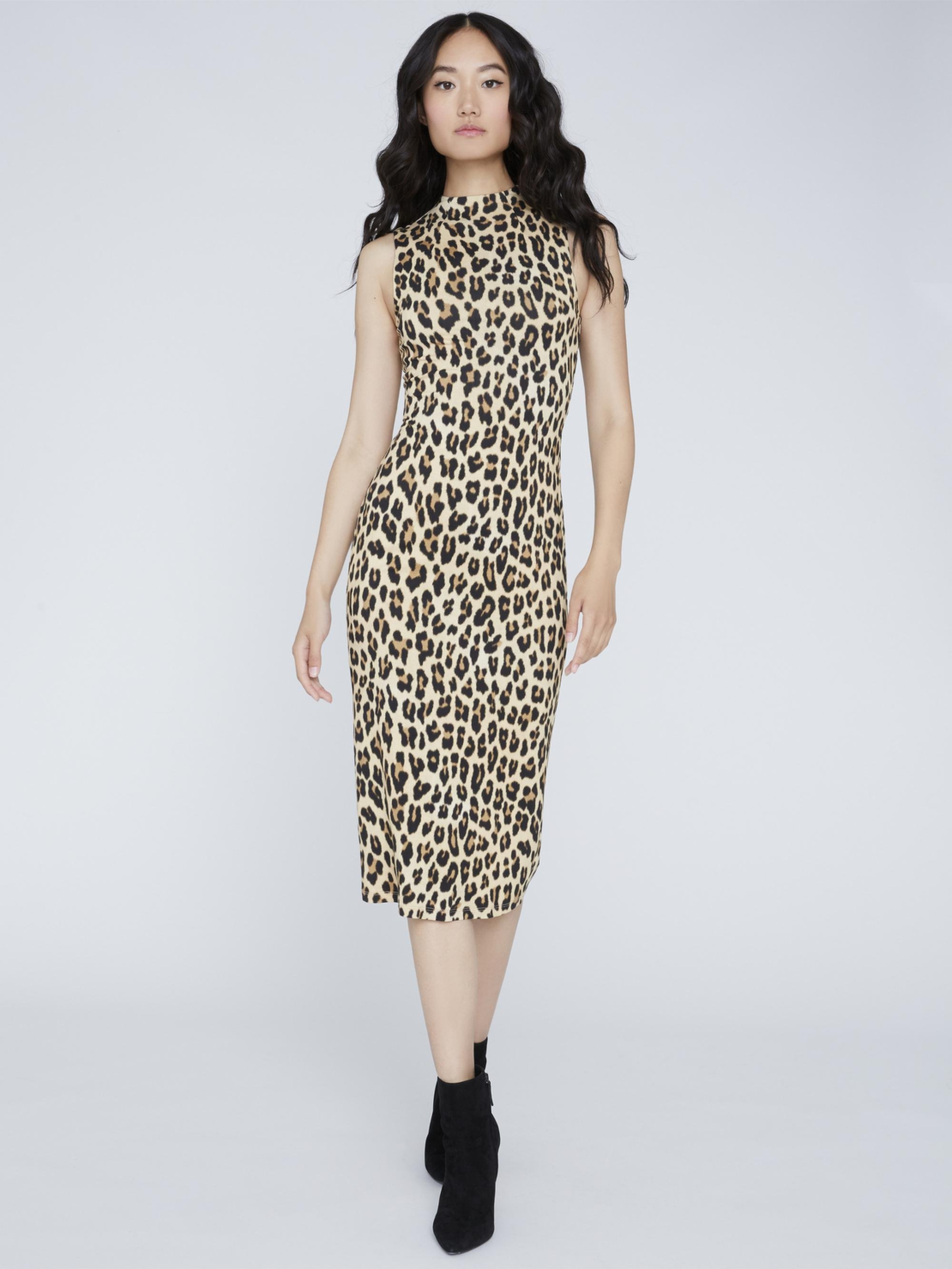 DELORA FITTED MOCK NECK DRESS