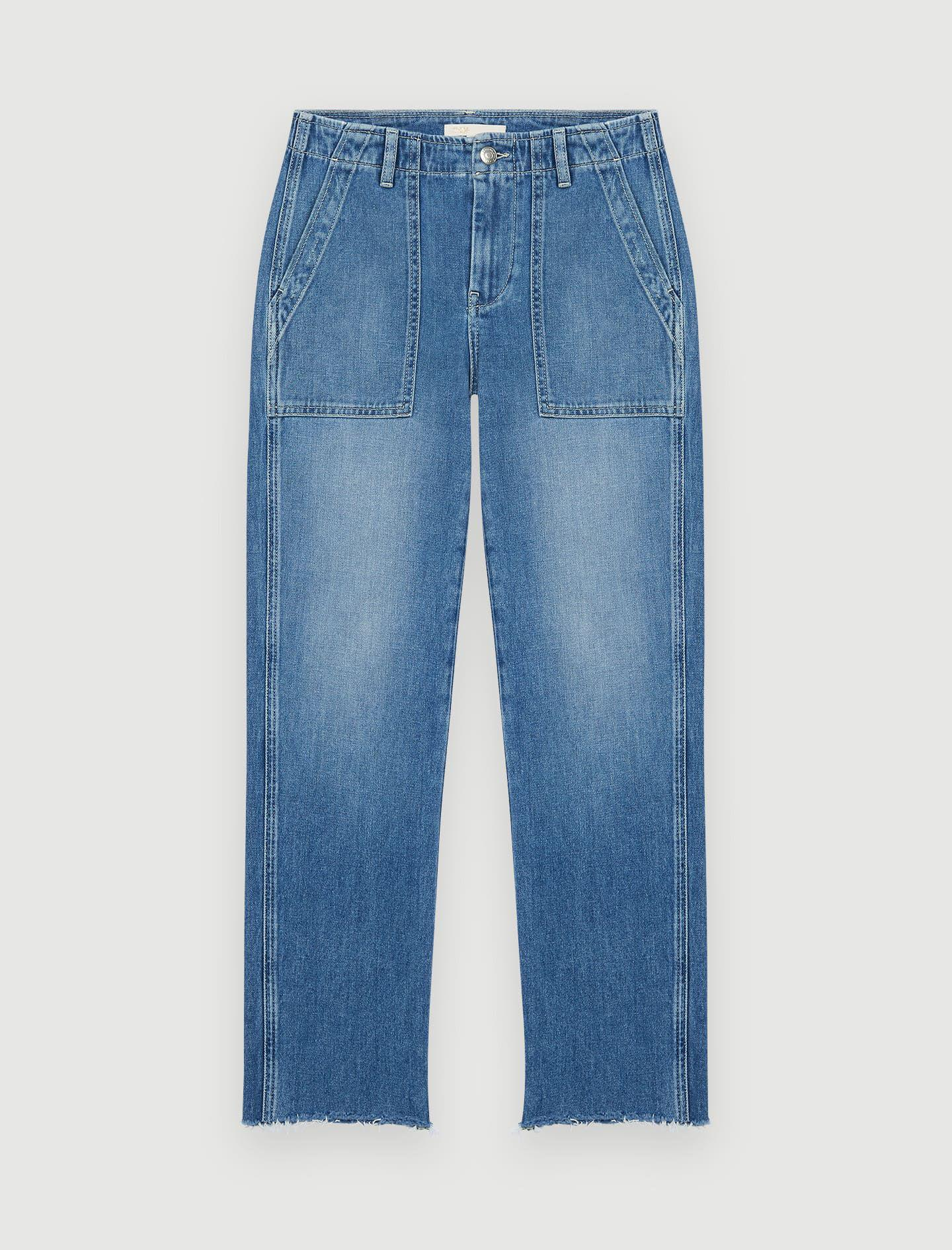JEANS WITH TOPSTITCHED POCKETS 4