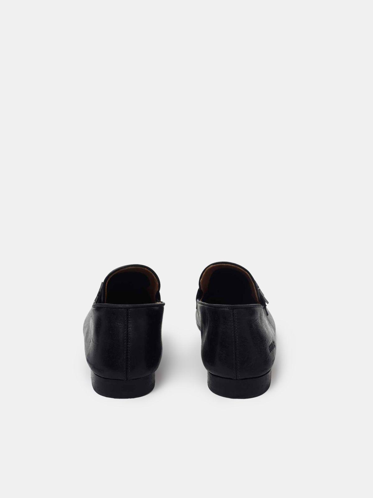 Virginia loafers in smooth black leather 1