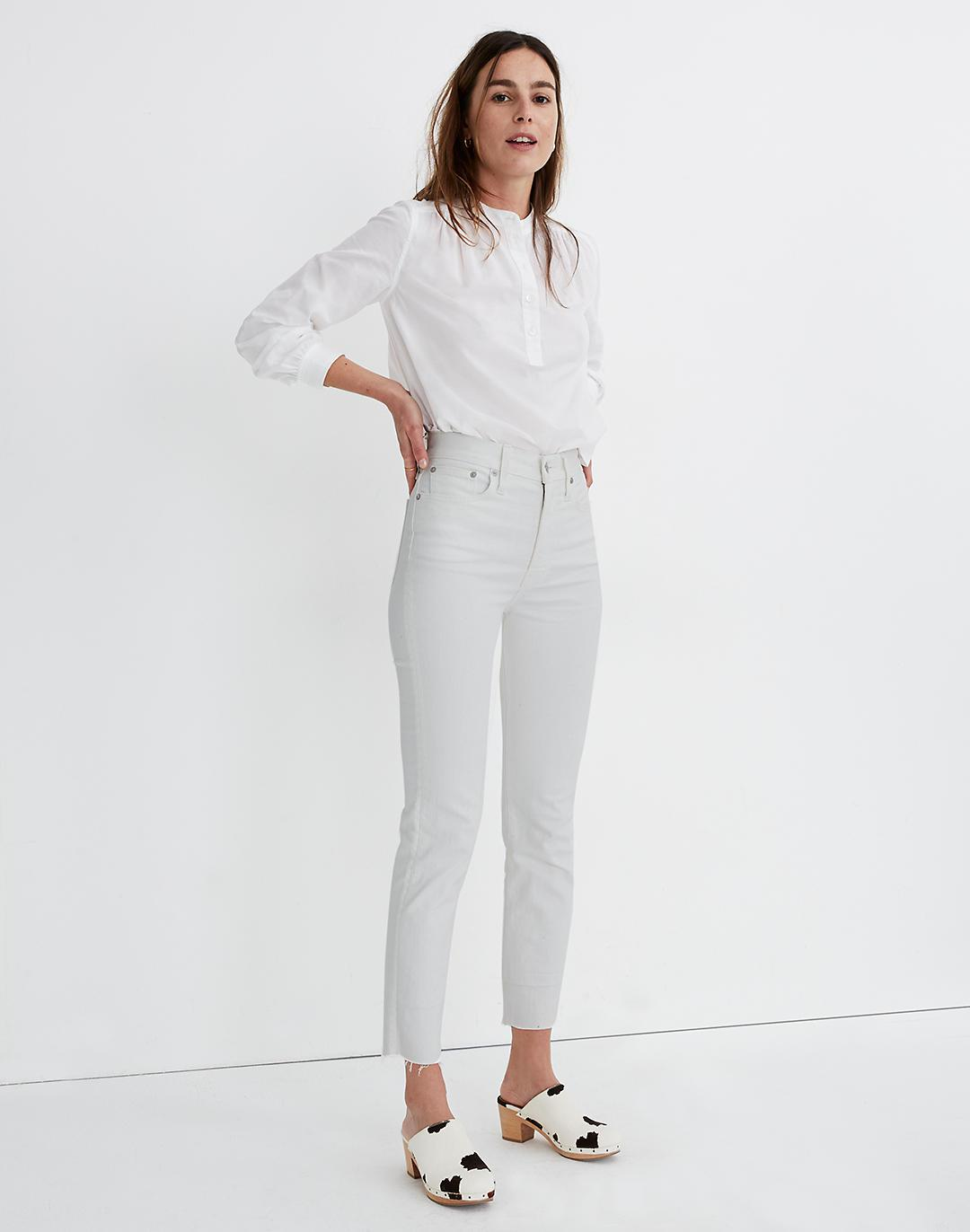 The Tall Perfect Vintage Jean in Tile White: Raw-Hem Edition