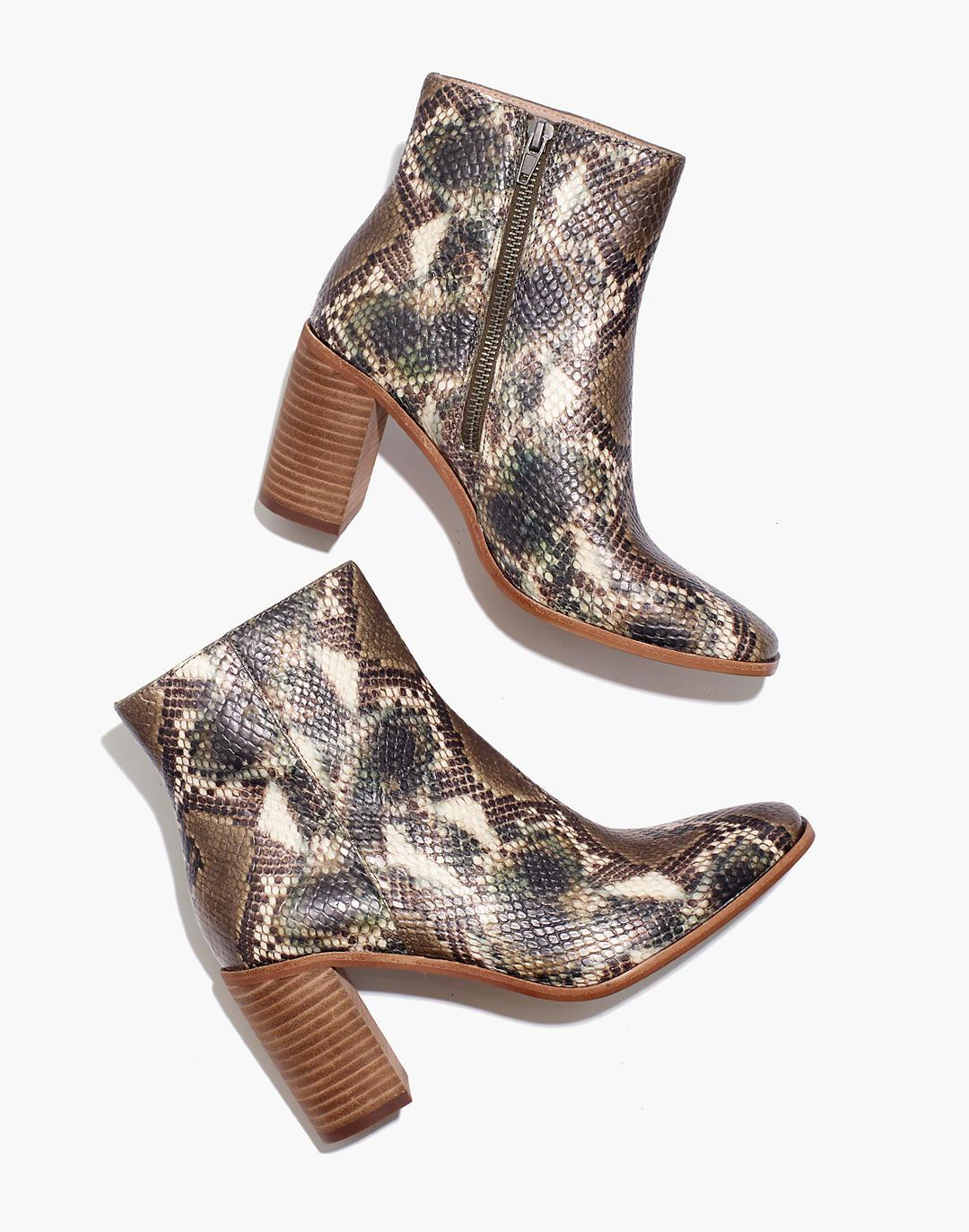 The Greer Boot in Snake Embossed Leather