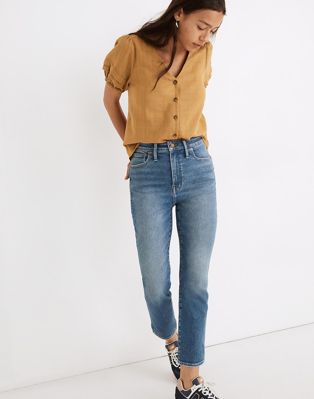 Petite Curvy Stovepipe Jeans in Ditmas Wash