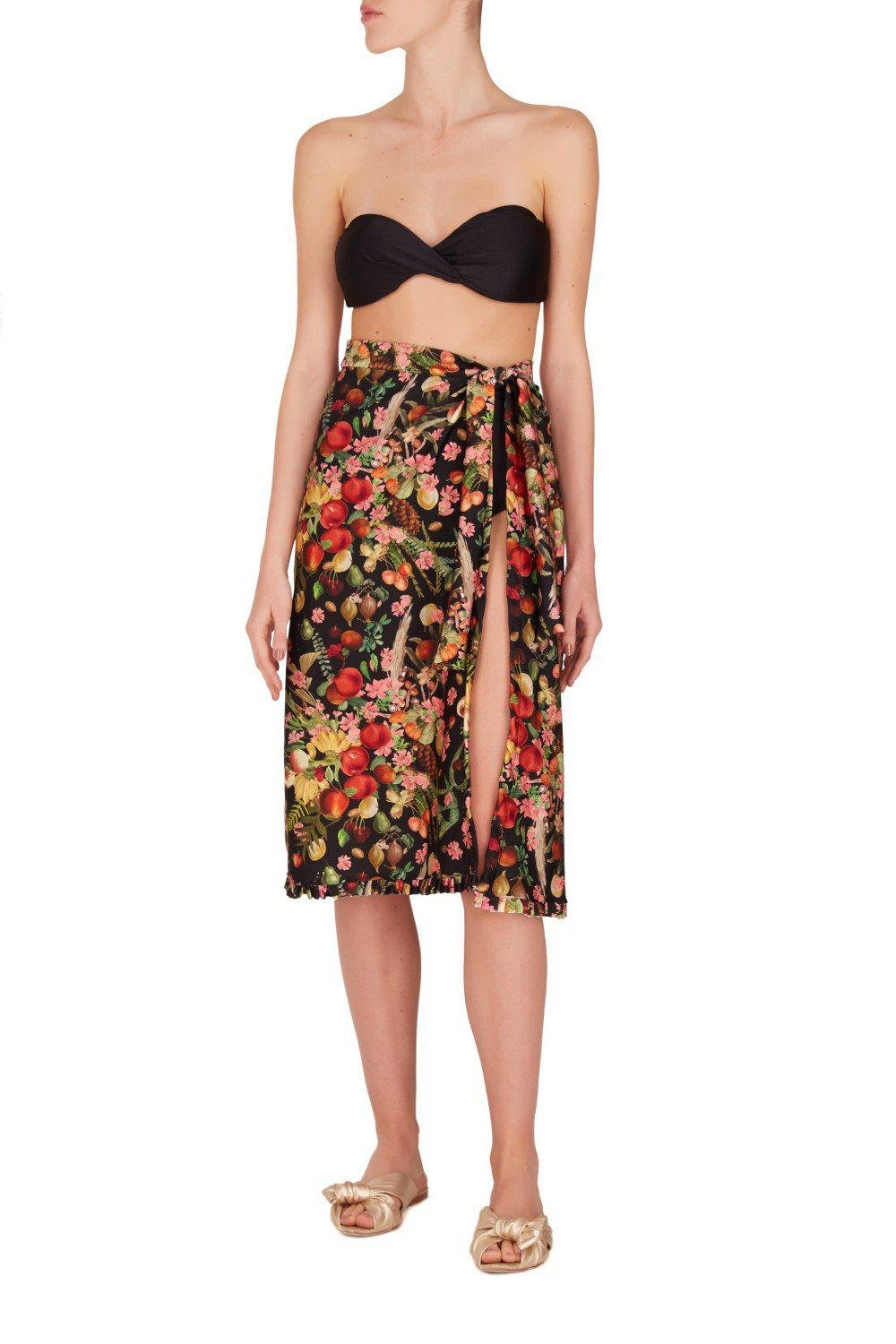 Fruits Exotiques Pareo Skirt with Frills 0