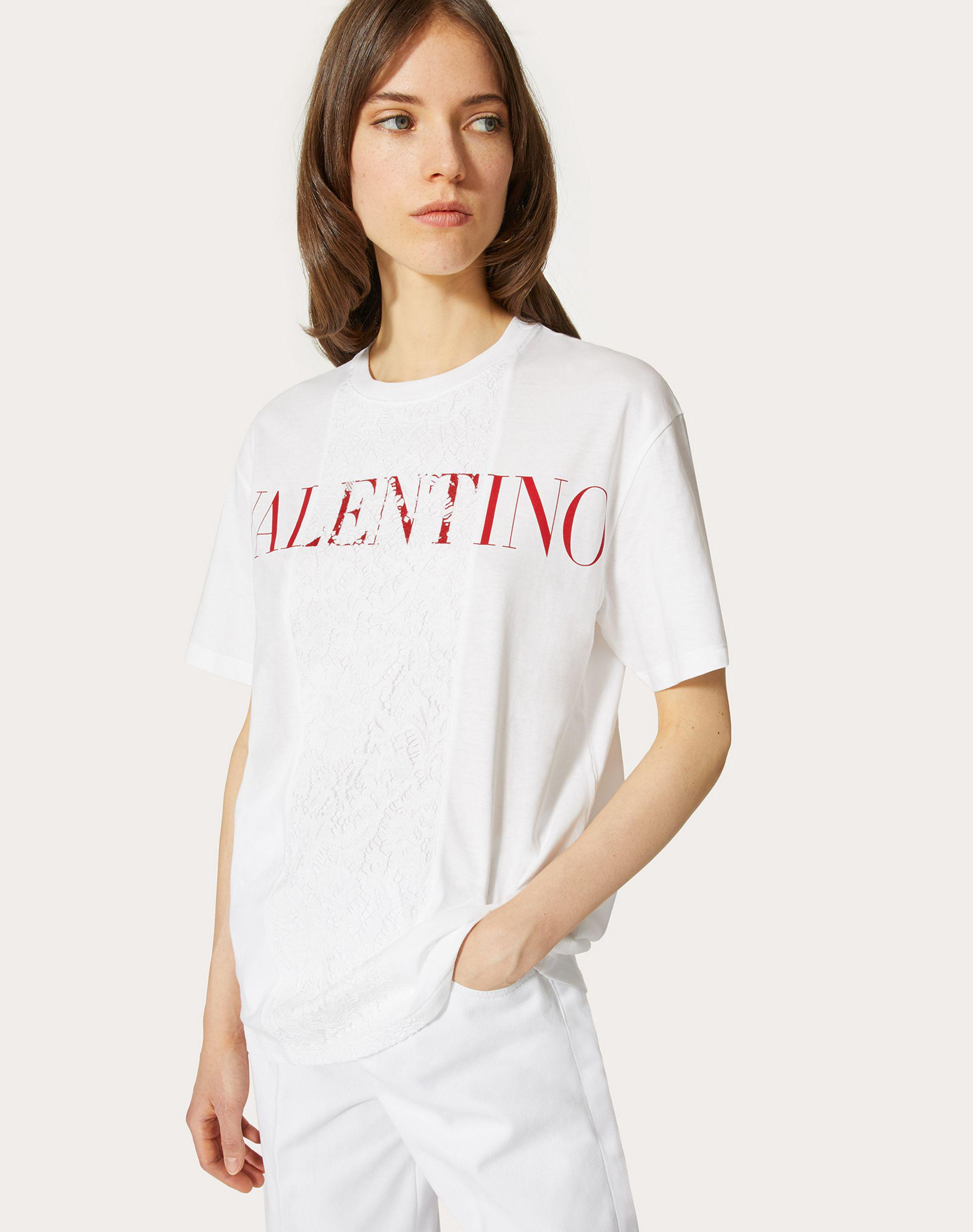 T-SHIRT IN JERSEY AND HEAVY LACE 3