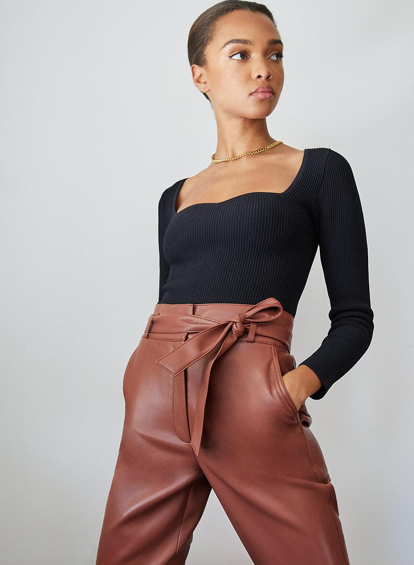 Vegan Leather Belted Pant 2