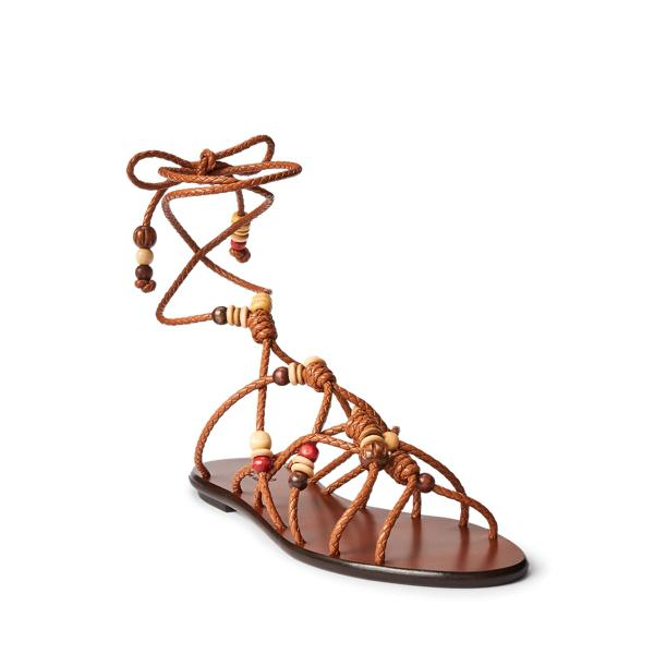 Beaded Lace-Up Sandal 1