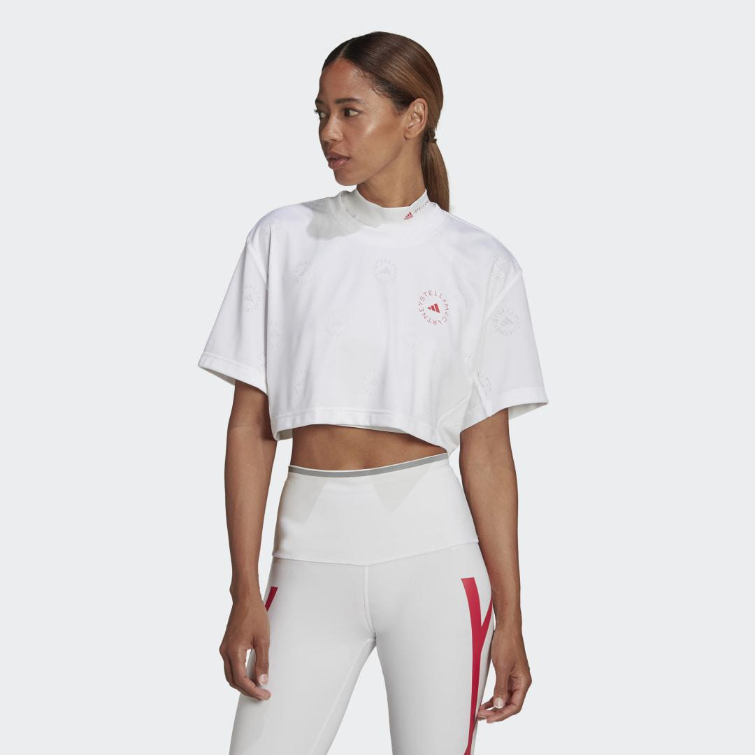 by Stella McCartney Made To Be Remade Crop Tee White