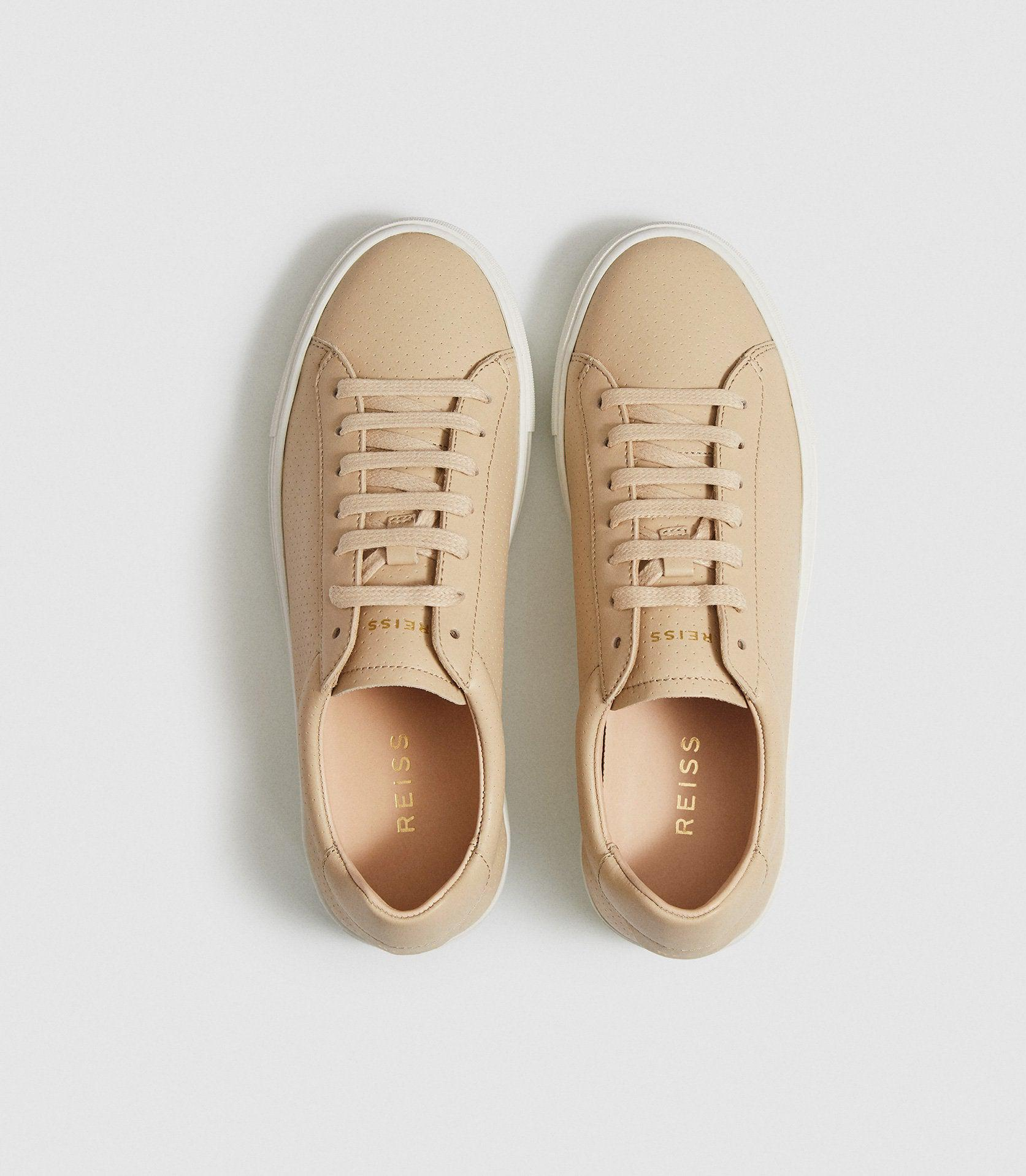FINLEY - PERFORATED LEATHER TRAINERS 1