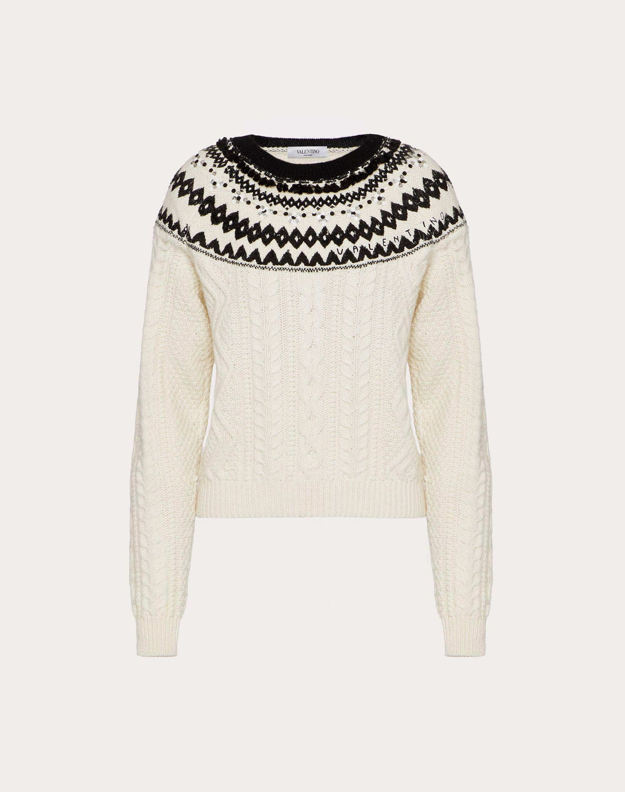 EMBROIDERED WOOL SWEATER 4