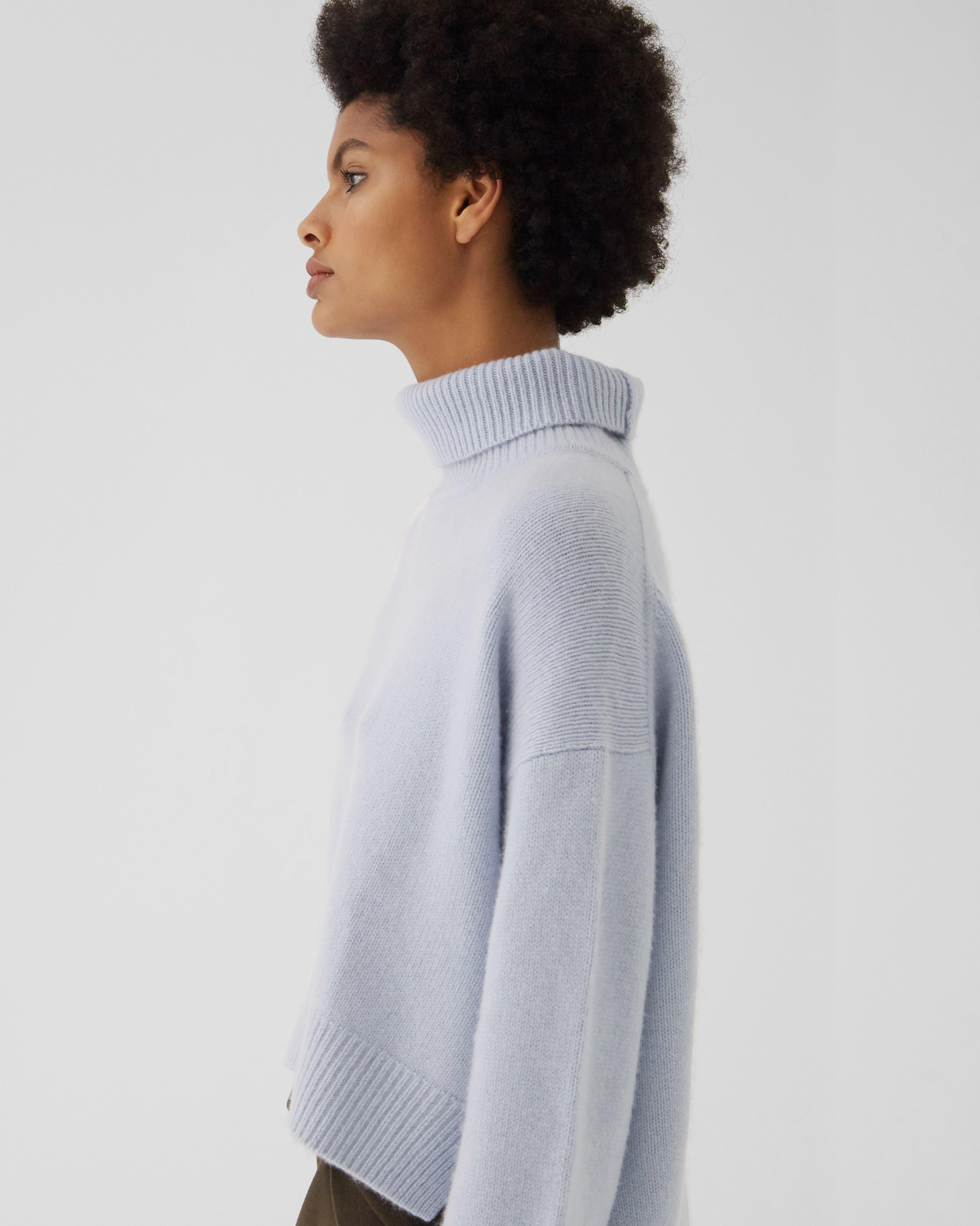Lyn Sweater Regenerated Cashmere Blue 1
