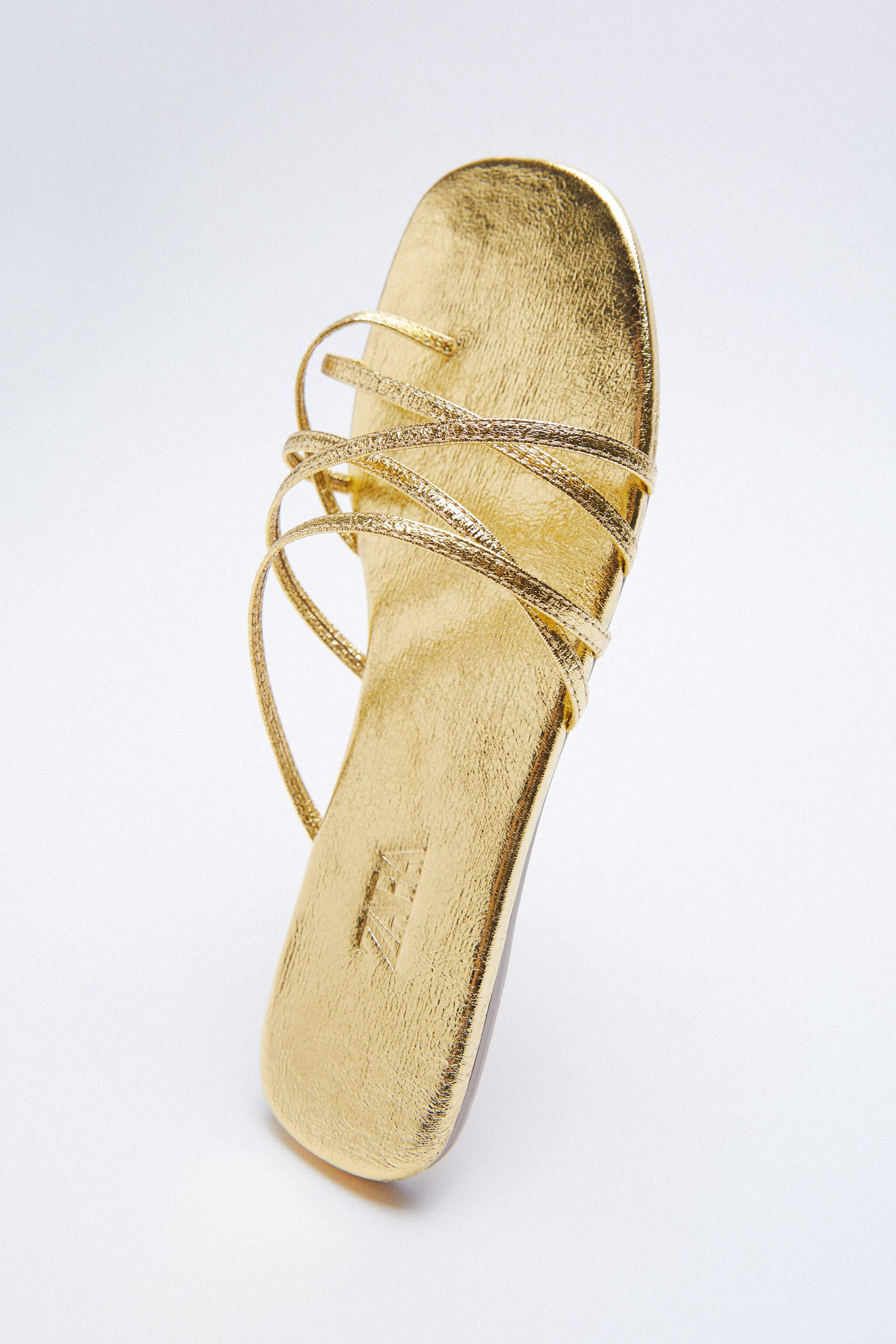 THIN STRAPPY FLAT SANDALS 5