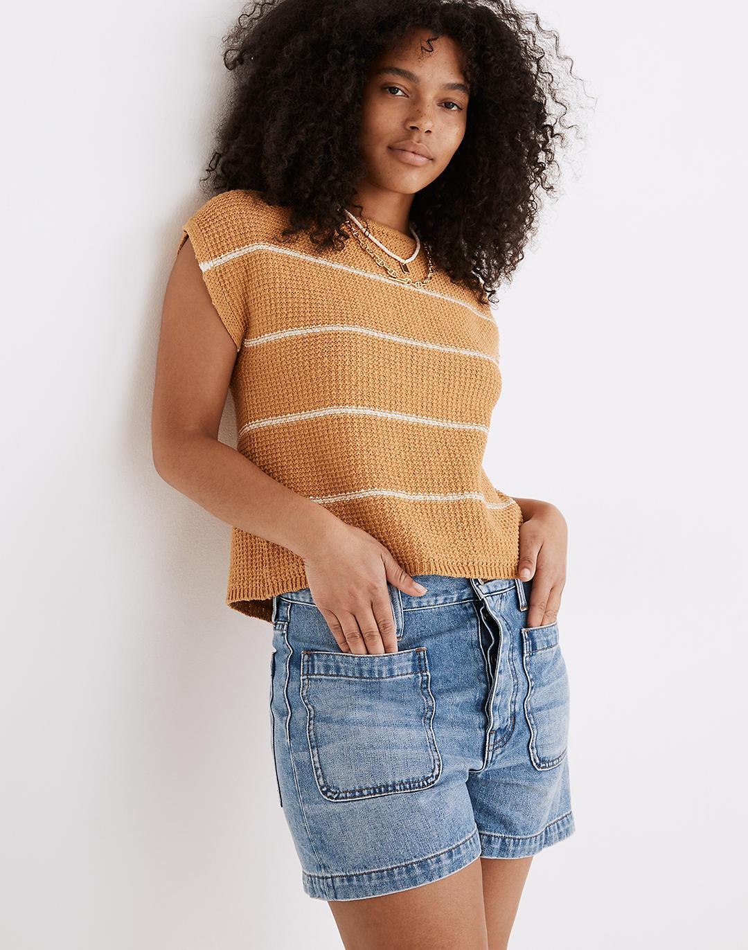 The Relaxed Dadjean Short in Parkglen Wash: Patch Pocket Edition