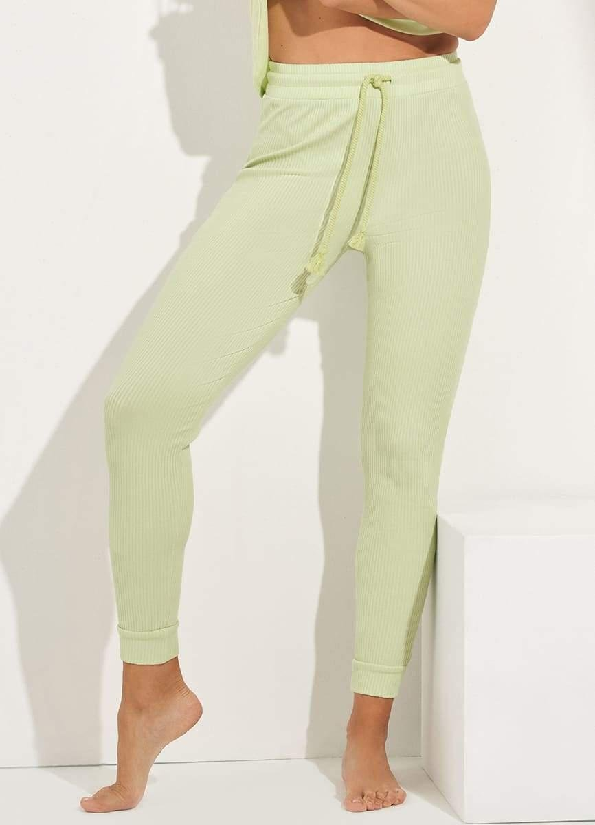 Smooth Mint High Rise Ribbed Legging