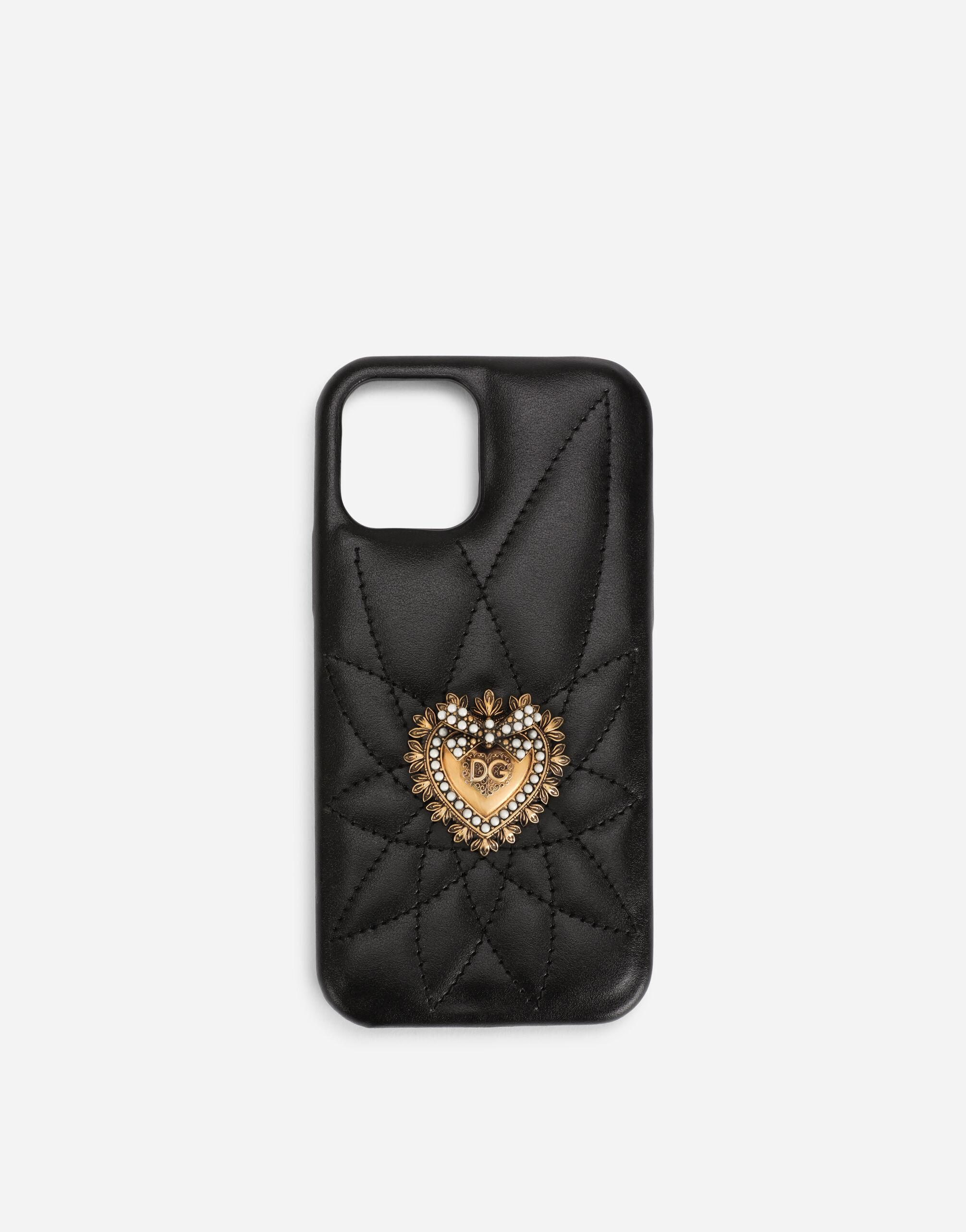 Quilted calfskin Devotion iPhone 12/12 Pro cover