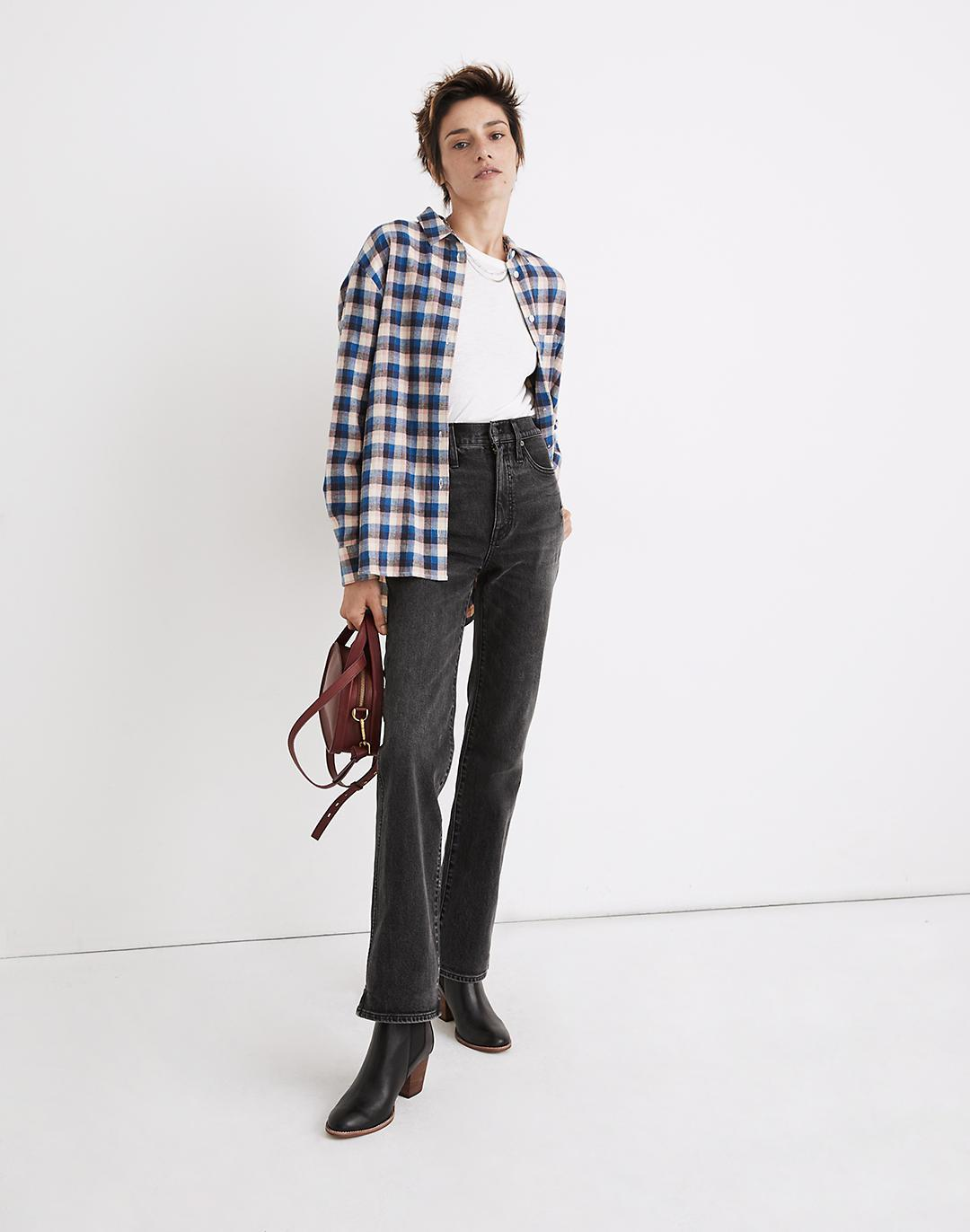 Flannel Sunday Shirt in Delgany Plaid