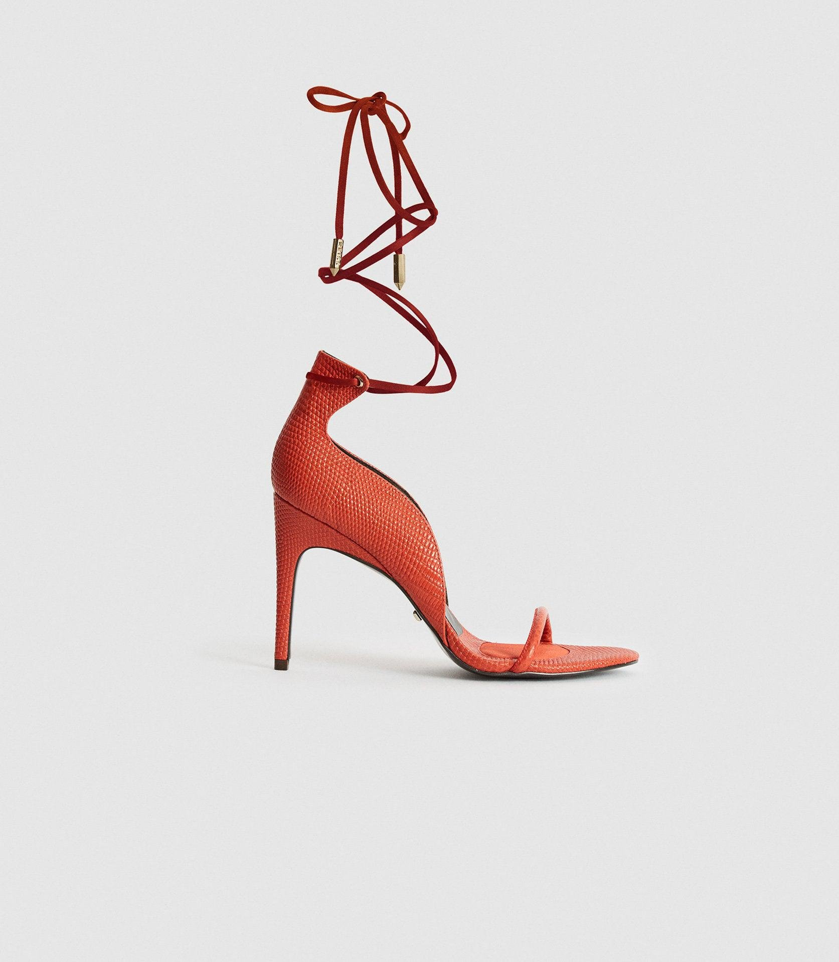 COCO - LEATHER STRAPPY WRAP SANDALS