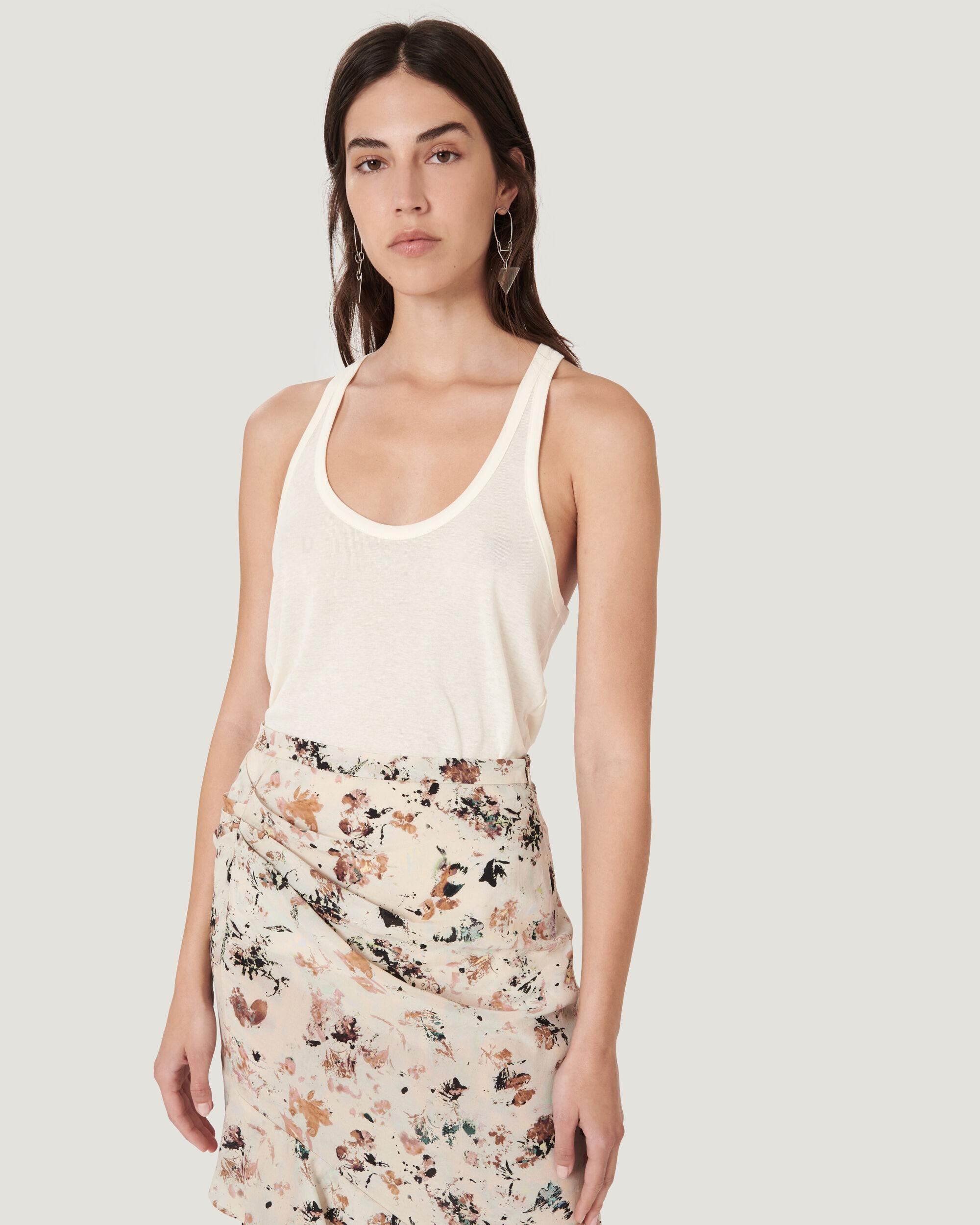 AMELY SCOOP NECK THIN STRAP TANK TOP