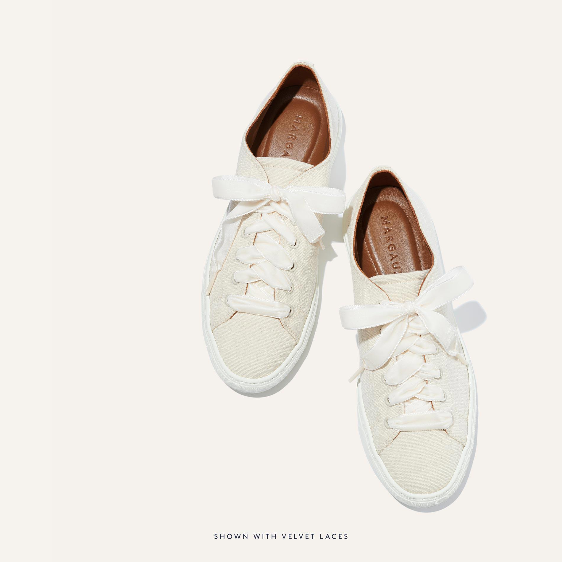 The Summer Sneaker - Ivory Canvas 4