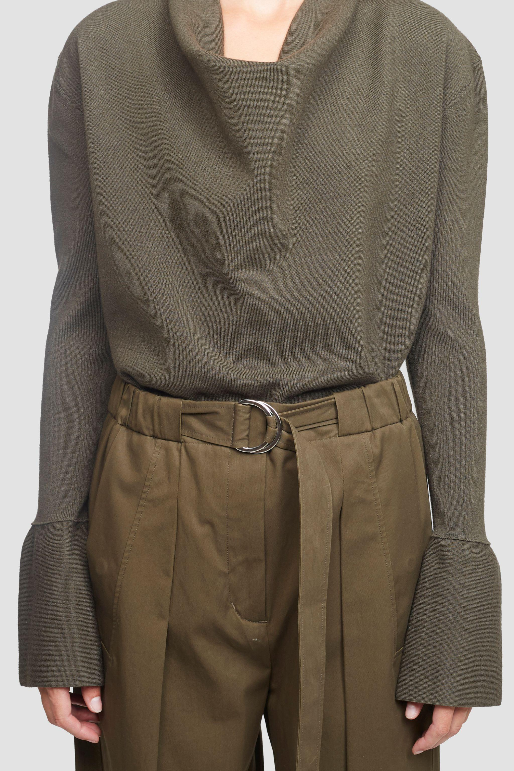 Cowl Neck Military Ribbed Sweater 4