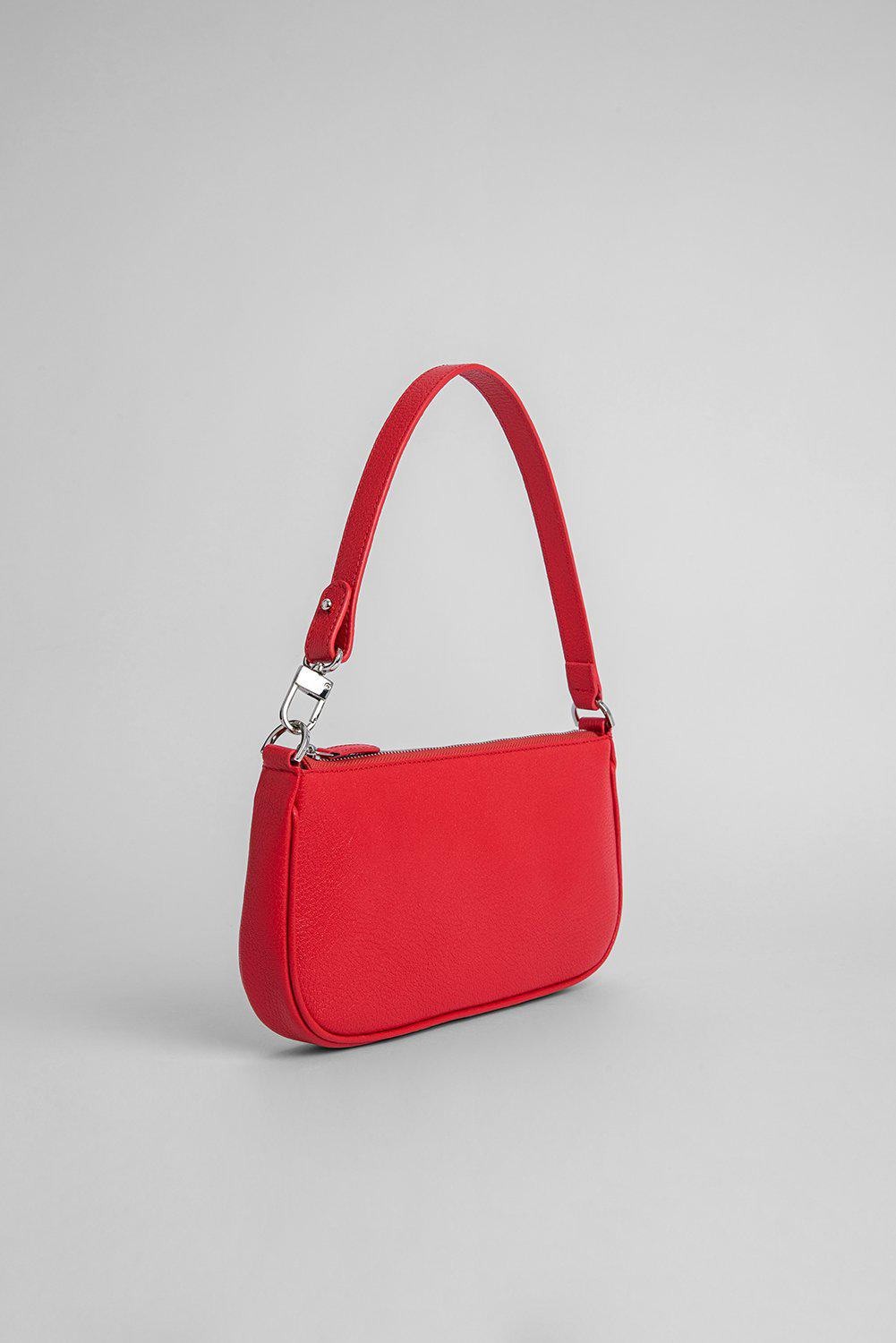 Rachel Red Grained Leather 1