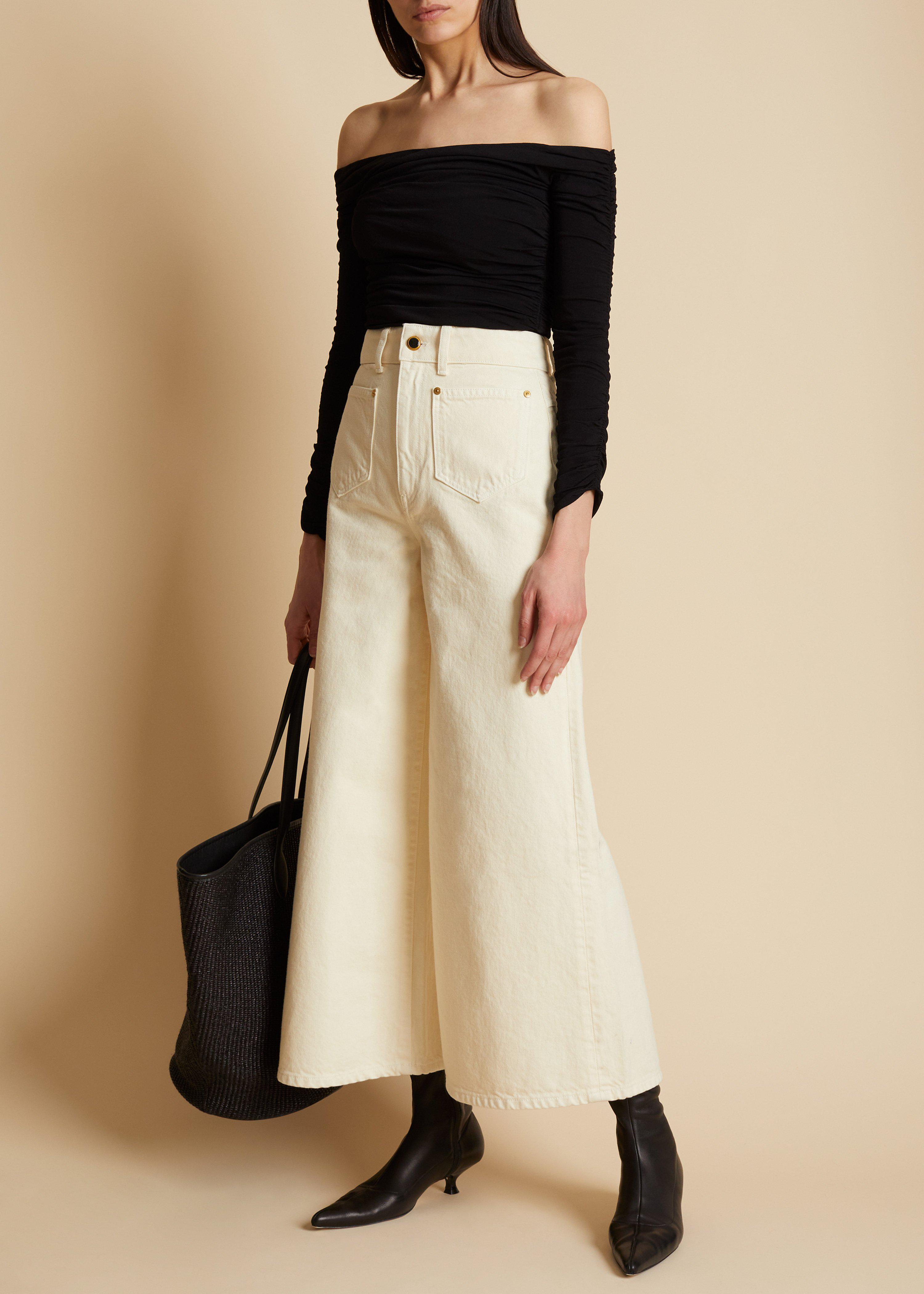 The Aiden Jean in Ivory