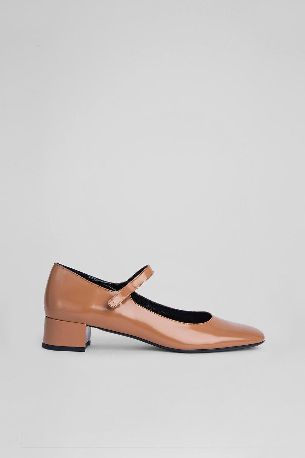 Ginny Clay Semi Patent Leather